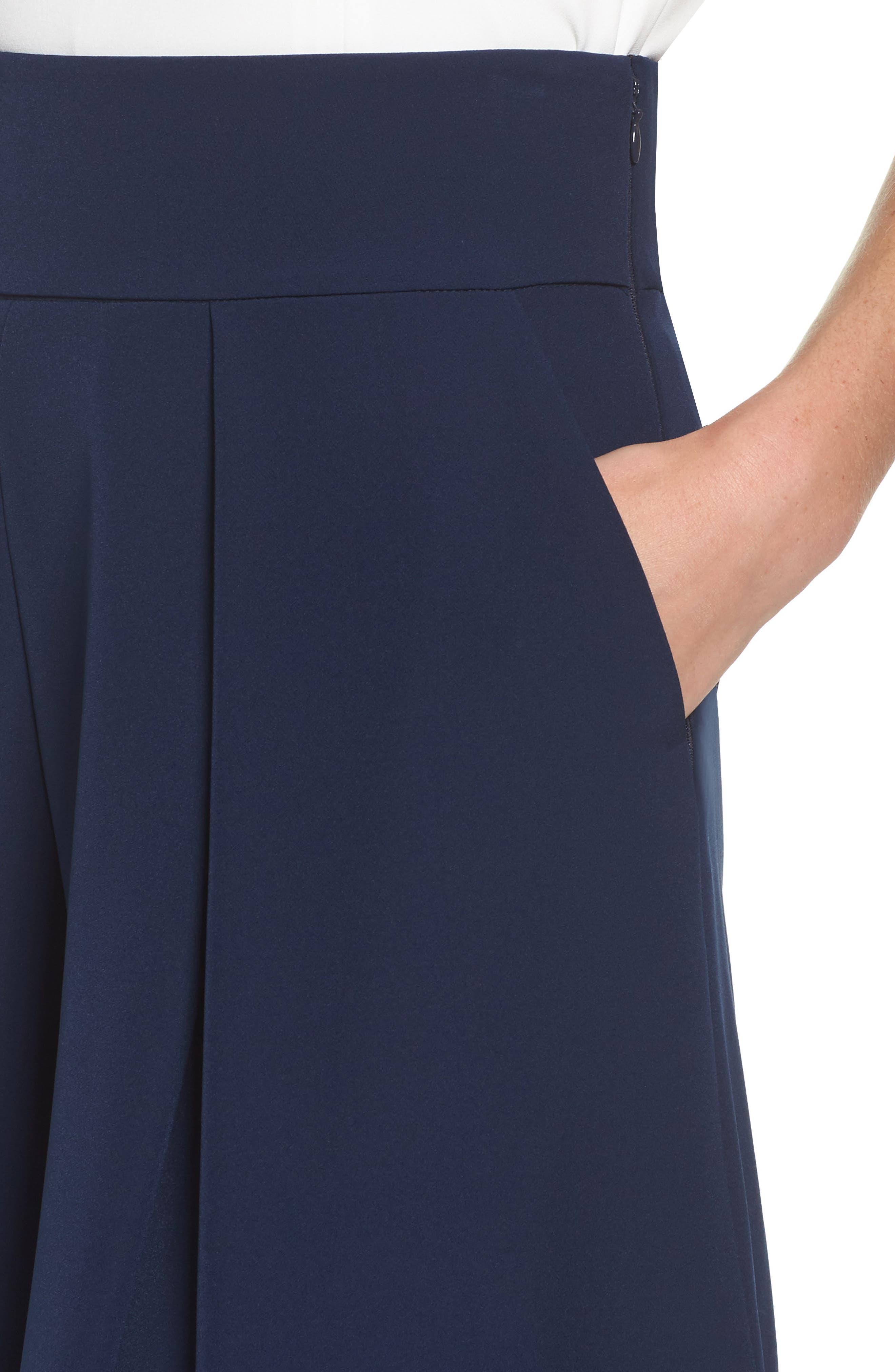 Pleated Wide Leg Pants,                             Alternate thumbnail 4, color,                             410
