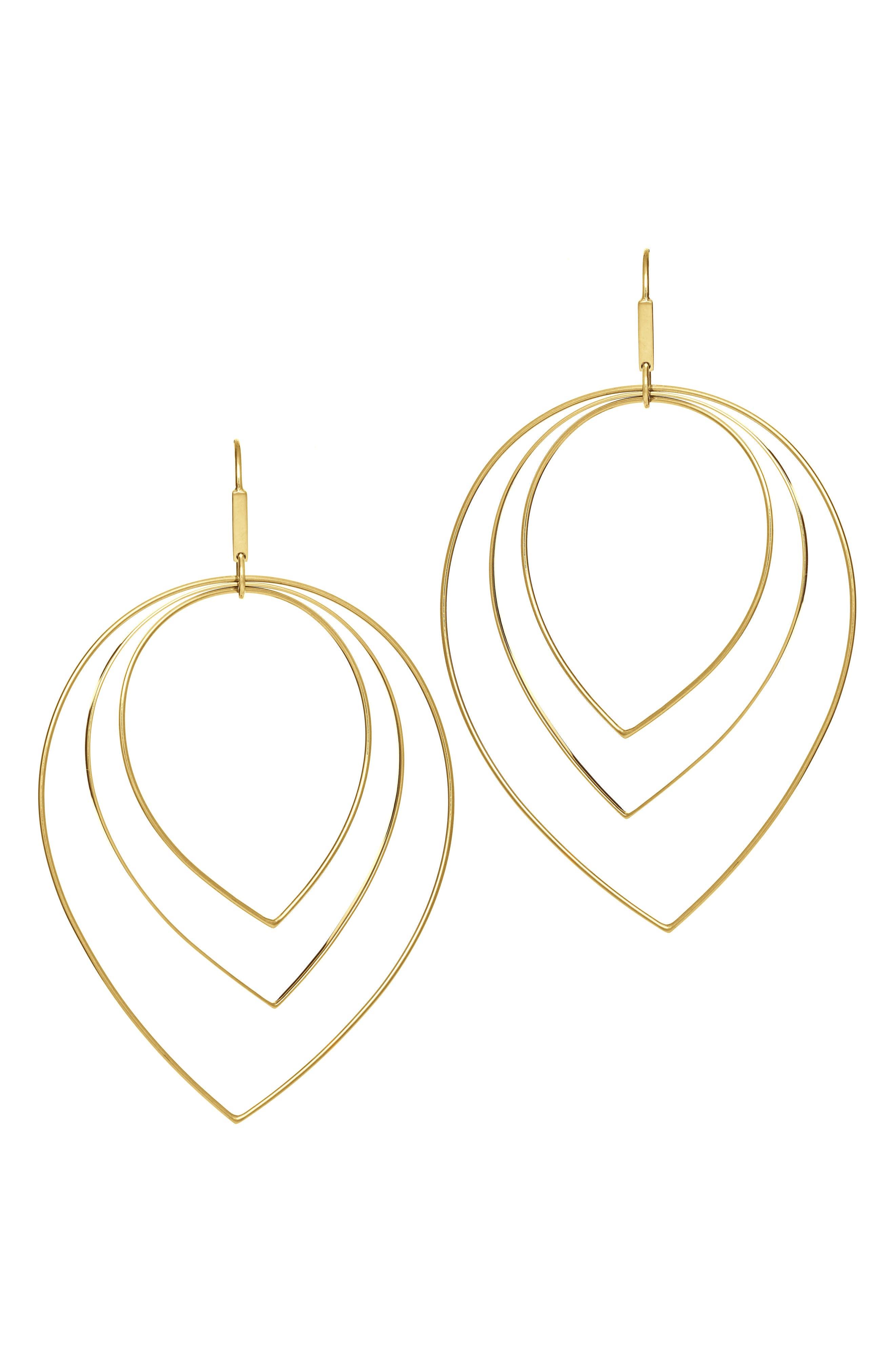 Drop Earrings,                         Main,                         color, YELLOW GOLD