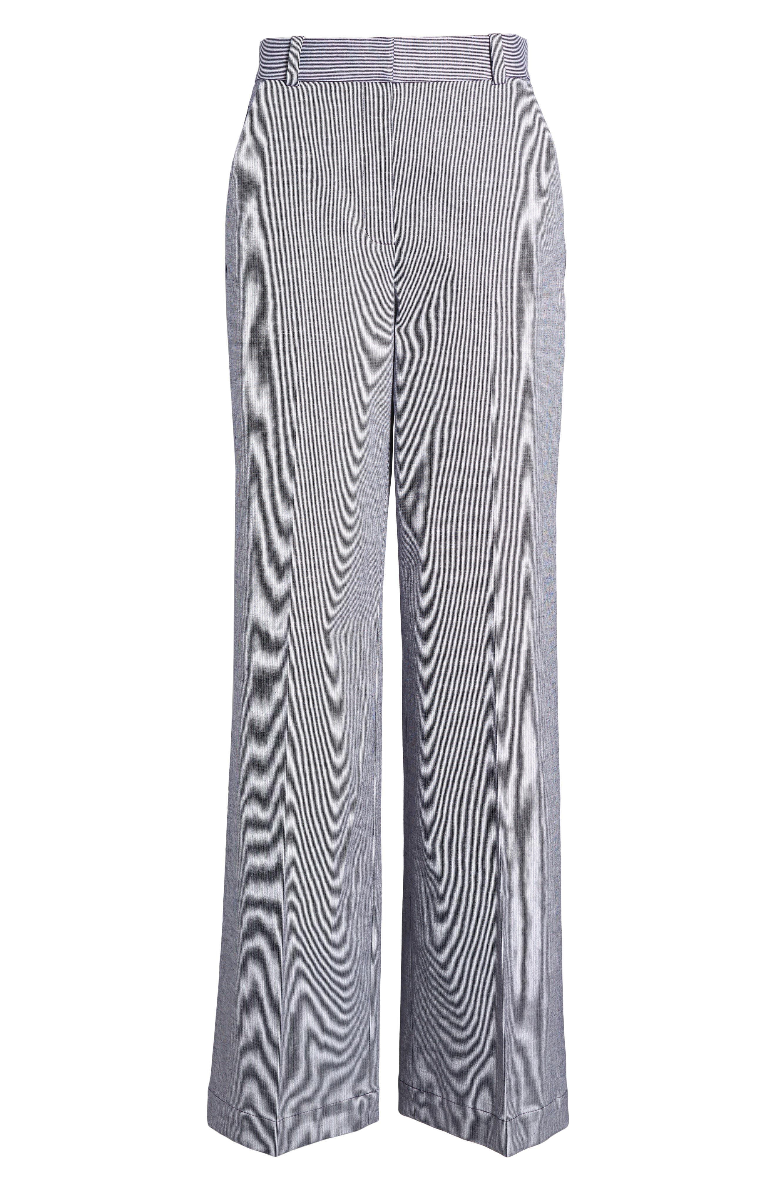 Ticking Stripe Pants,                             Alternate thumbnail 6, color,                             401