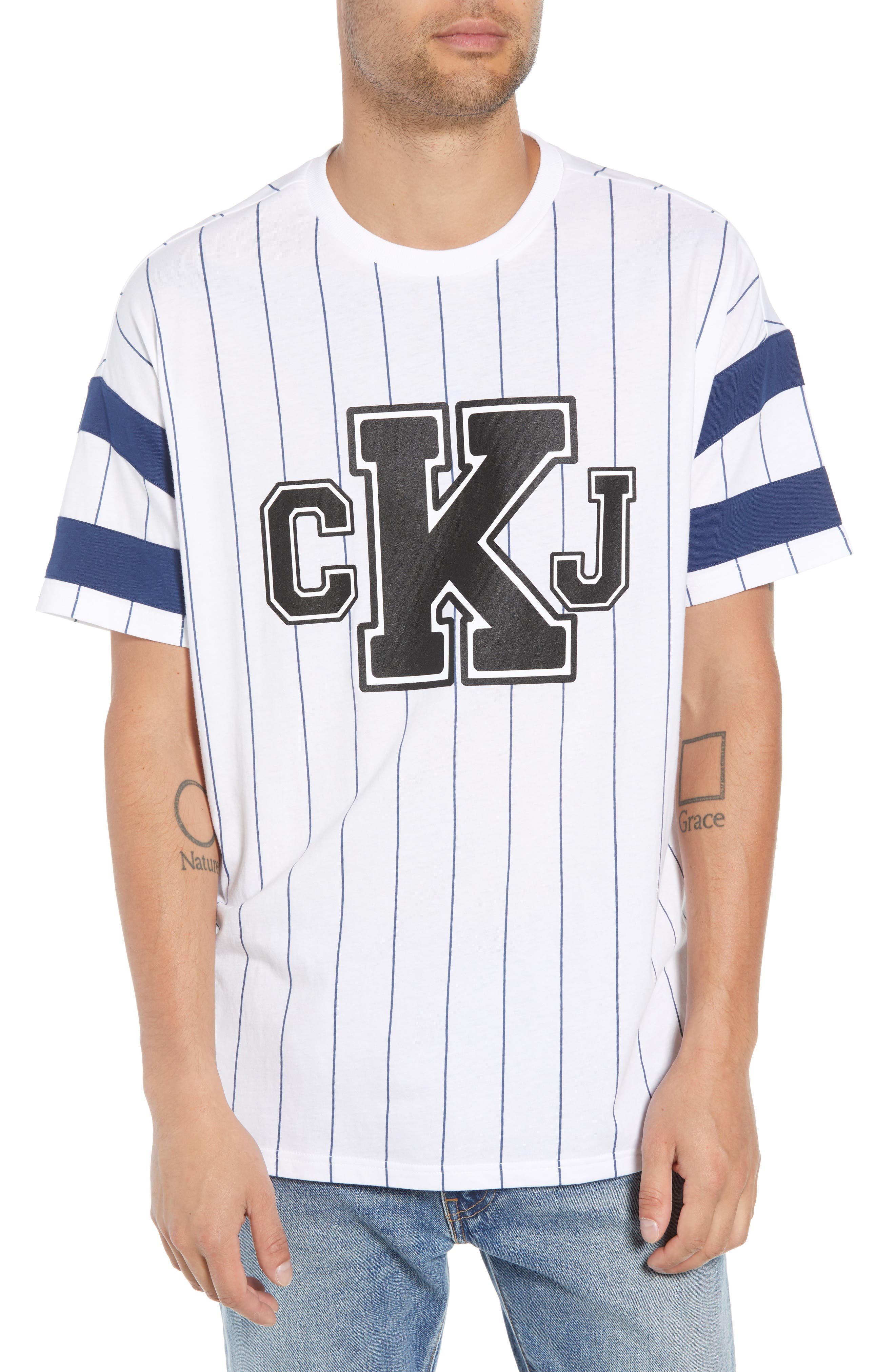 Logo Graphic Baseball T-Shirt,                         Main,                         color, STANDARD WHITE