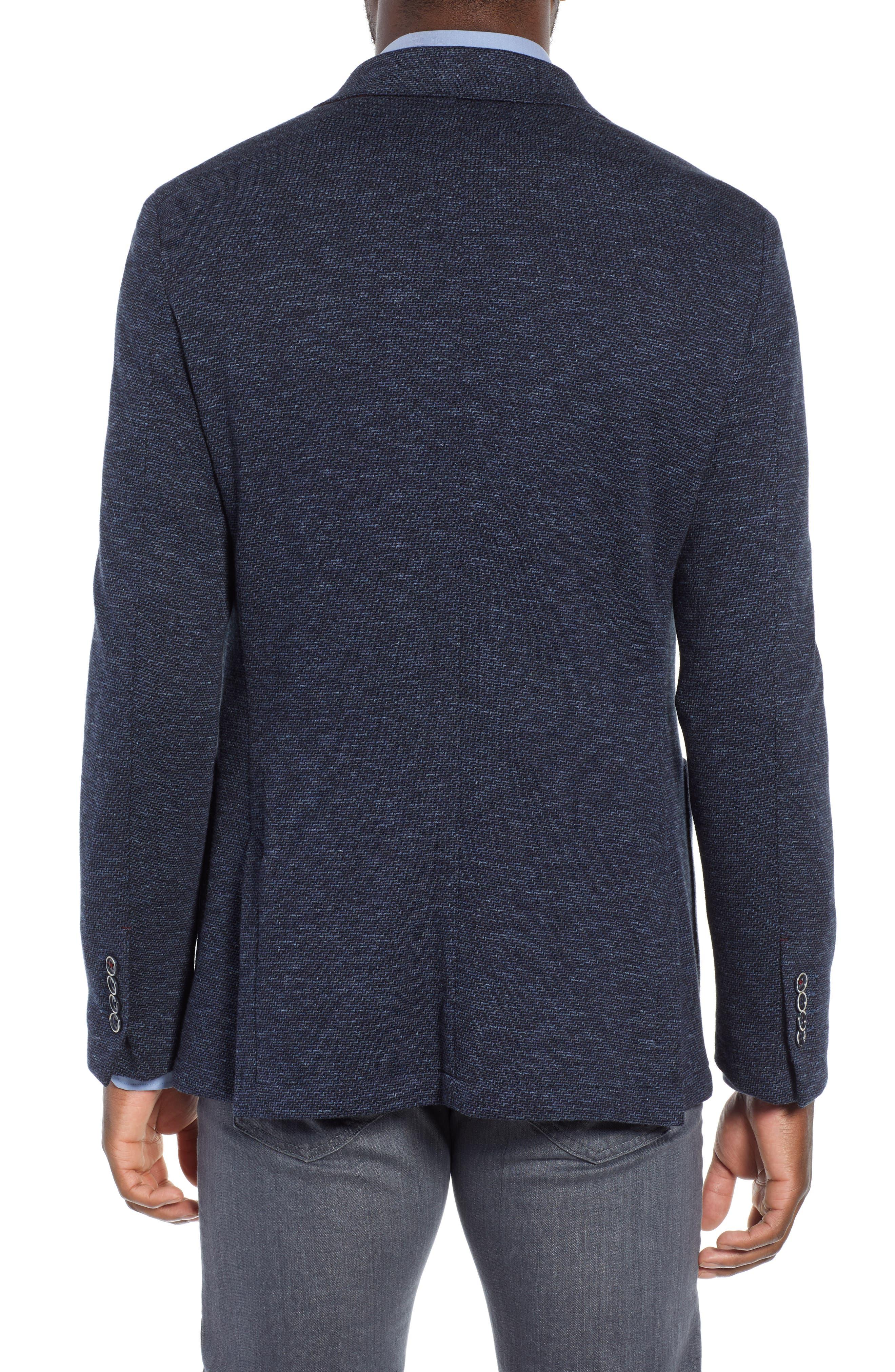 Stretch Cotton Knit Sport Coat,                             Alternate thumbnail 2, color,                             DENIM