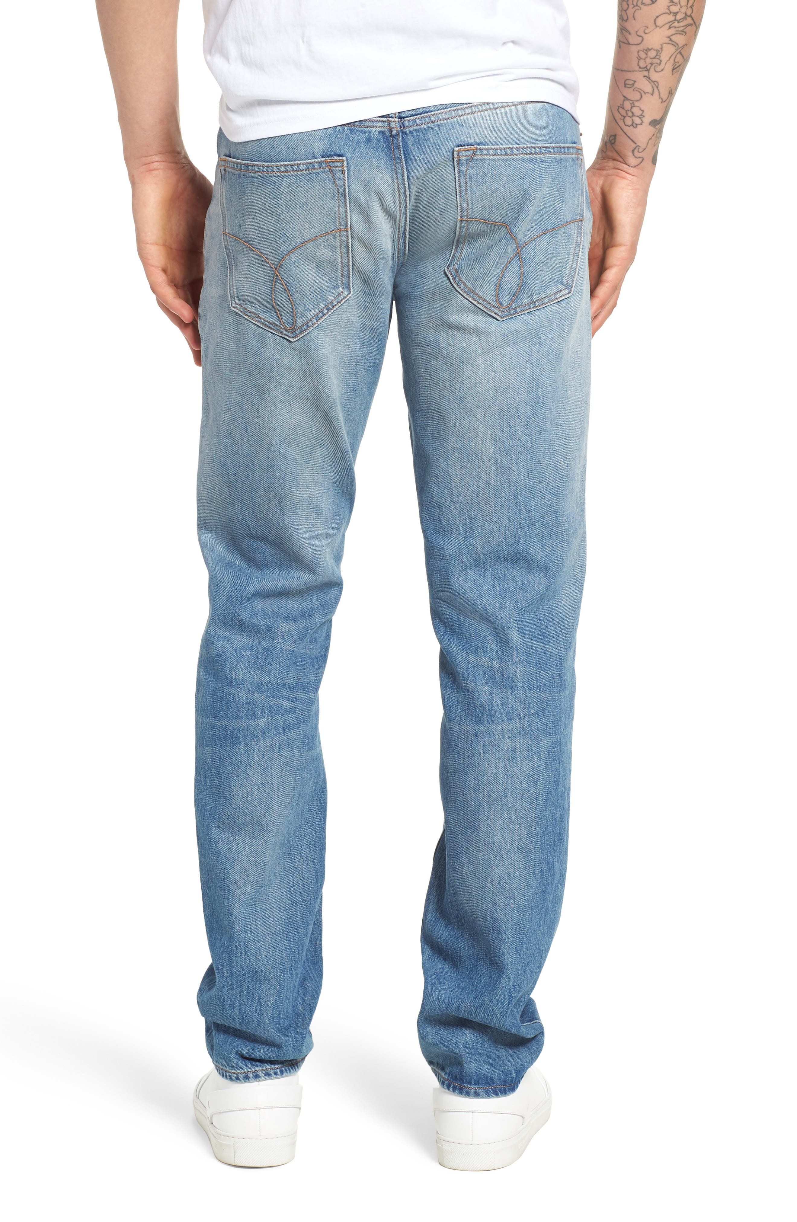 Slim Straight Fit Jeans,                             Alternate thumbnail 2, color,                             400