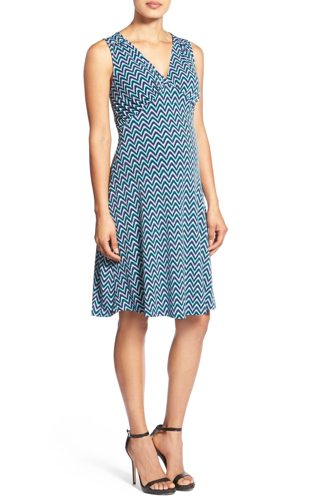 'Isabella' Sleeveless Maternity Dress,                         Main,                         color, WAVE AQUA