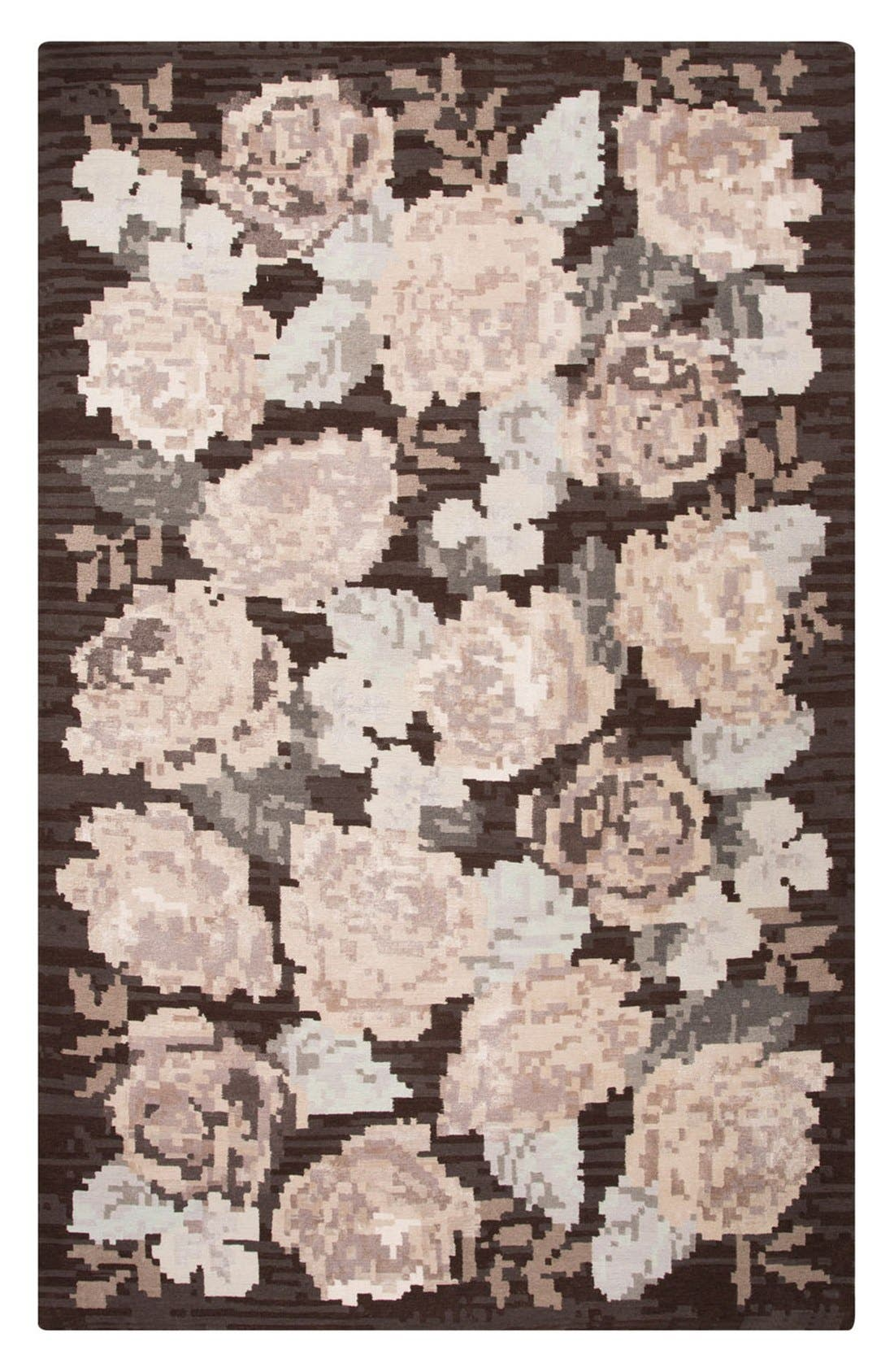 'murray - floral pattern' wool blend rug,                             Main thumbnail 1, color,                             200