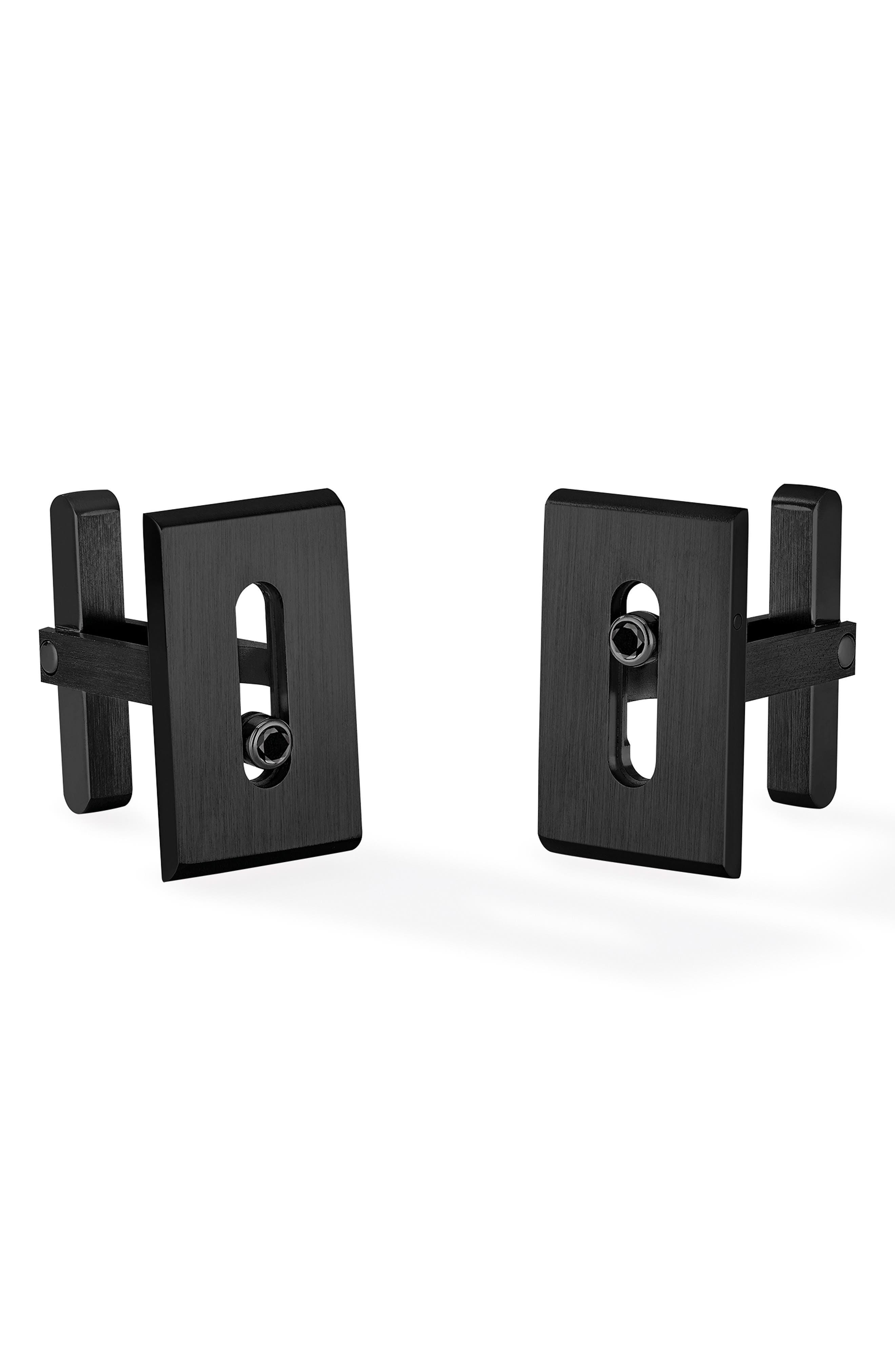 MESSIKA Titanium Move Diamond Cuff Links in Black