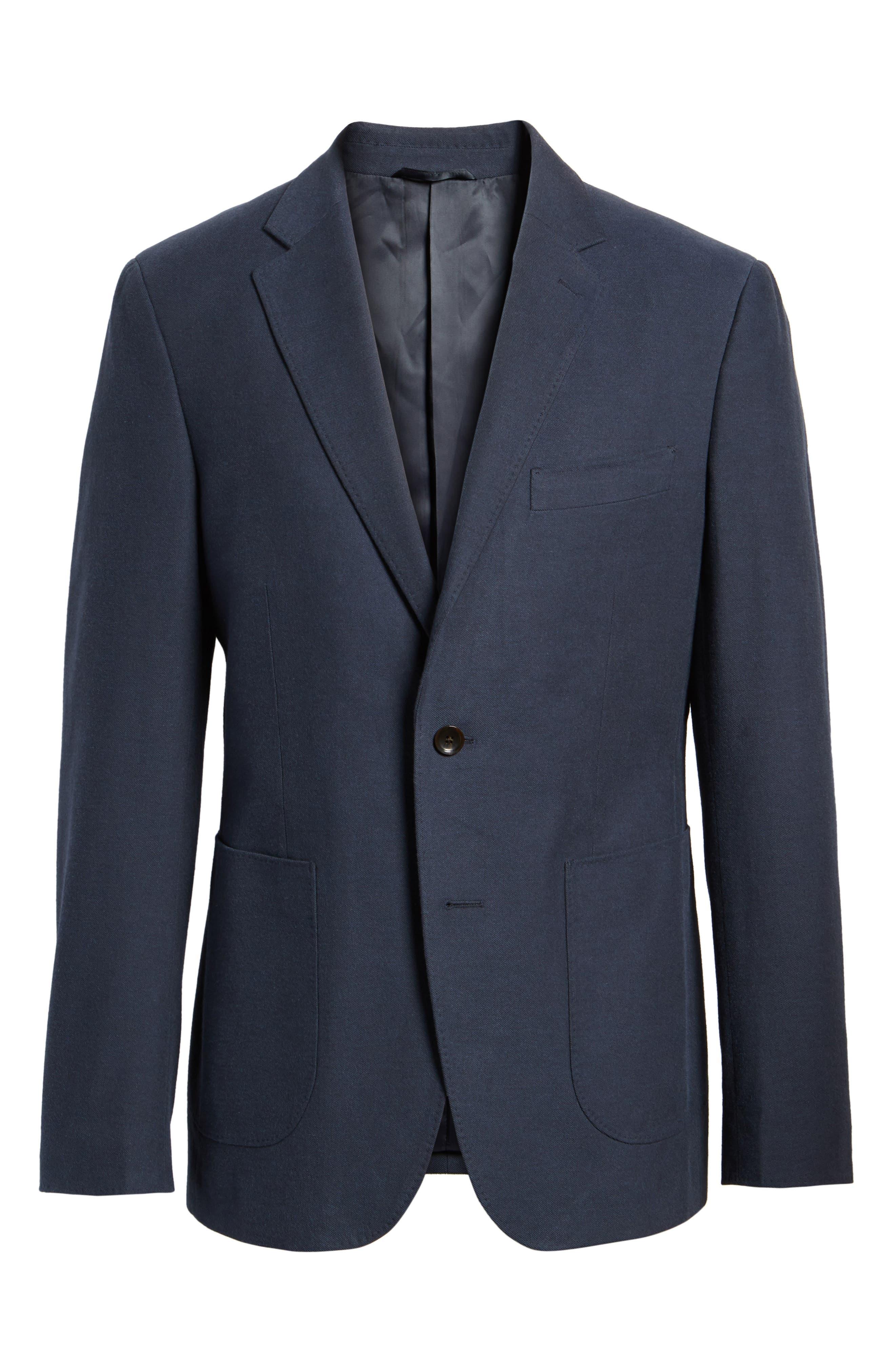 Pembroke Sports Fit Twill Jacket,                             Alternate thumbnail 5, color,                             410