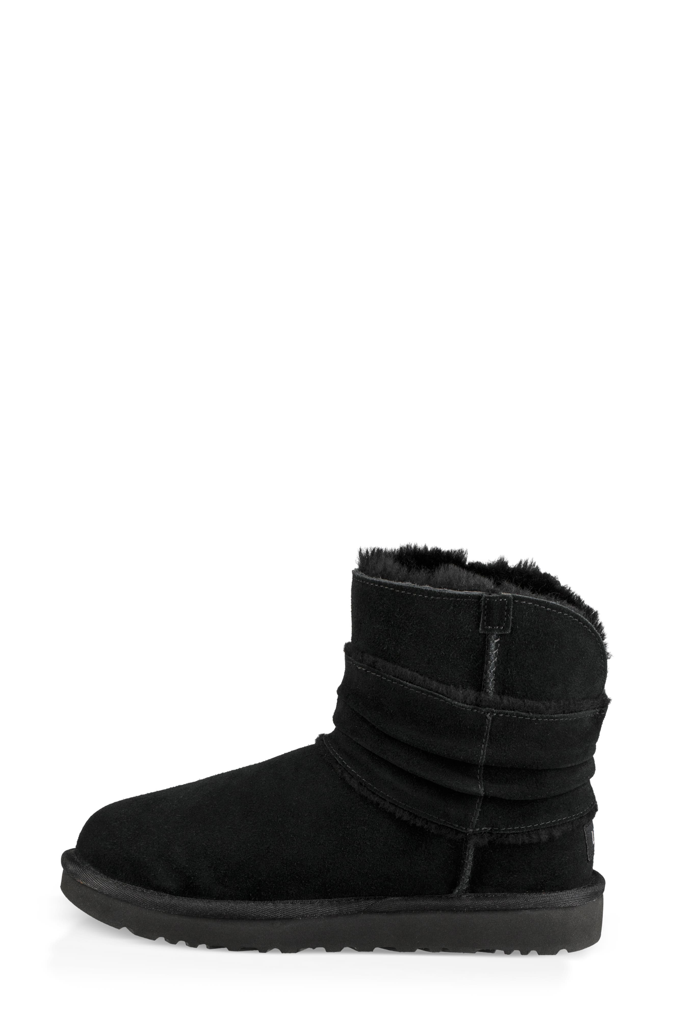 UGG<SUP>®</SUP>,                             Mini Bow Spill Seam Bootie,                             Alternate thumbnail 6, color,                             001