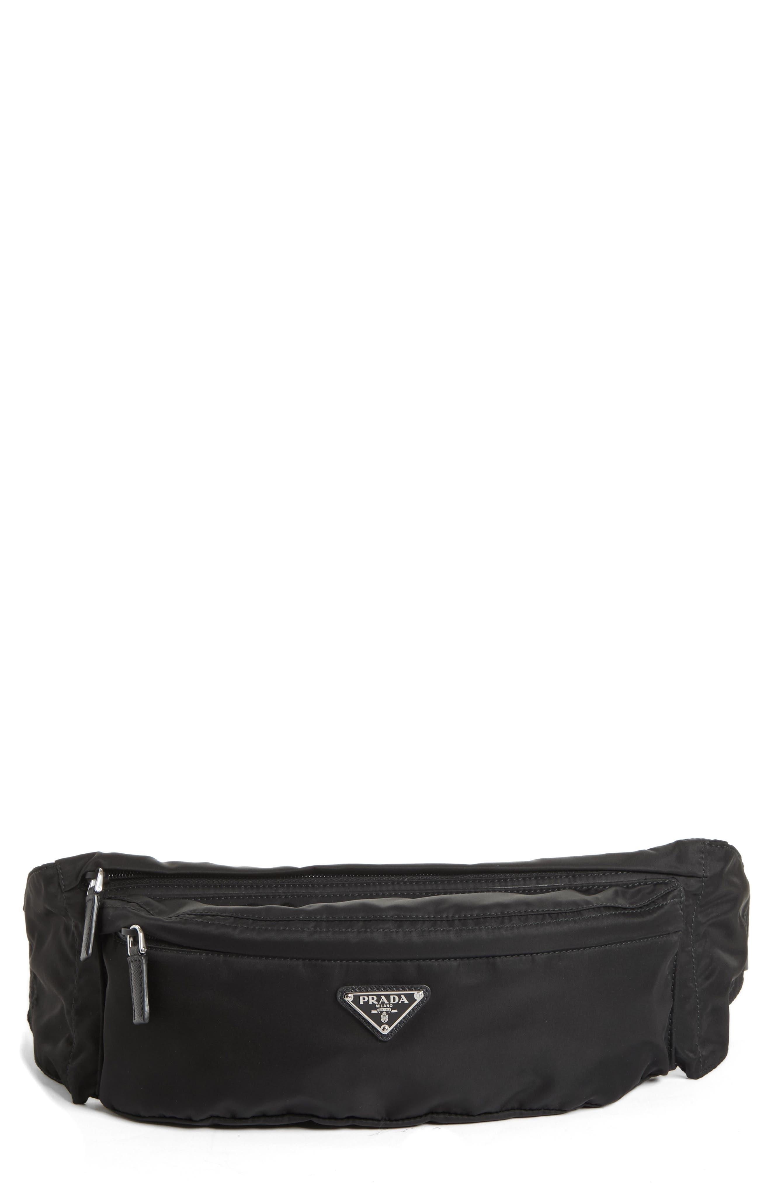 Tessuto Waist Pack,                         Main,                         color, BLACK