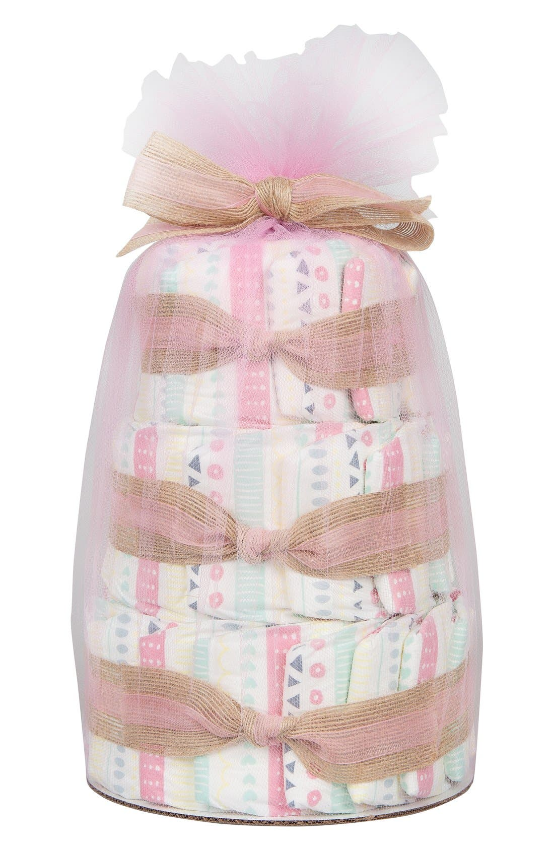 Mini Diaper Cake & Travel-Size Essentials Set,                             Main thumbnail 6, color,