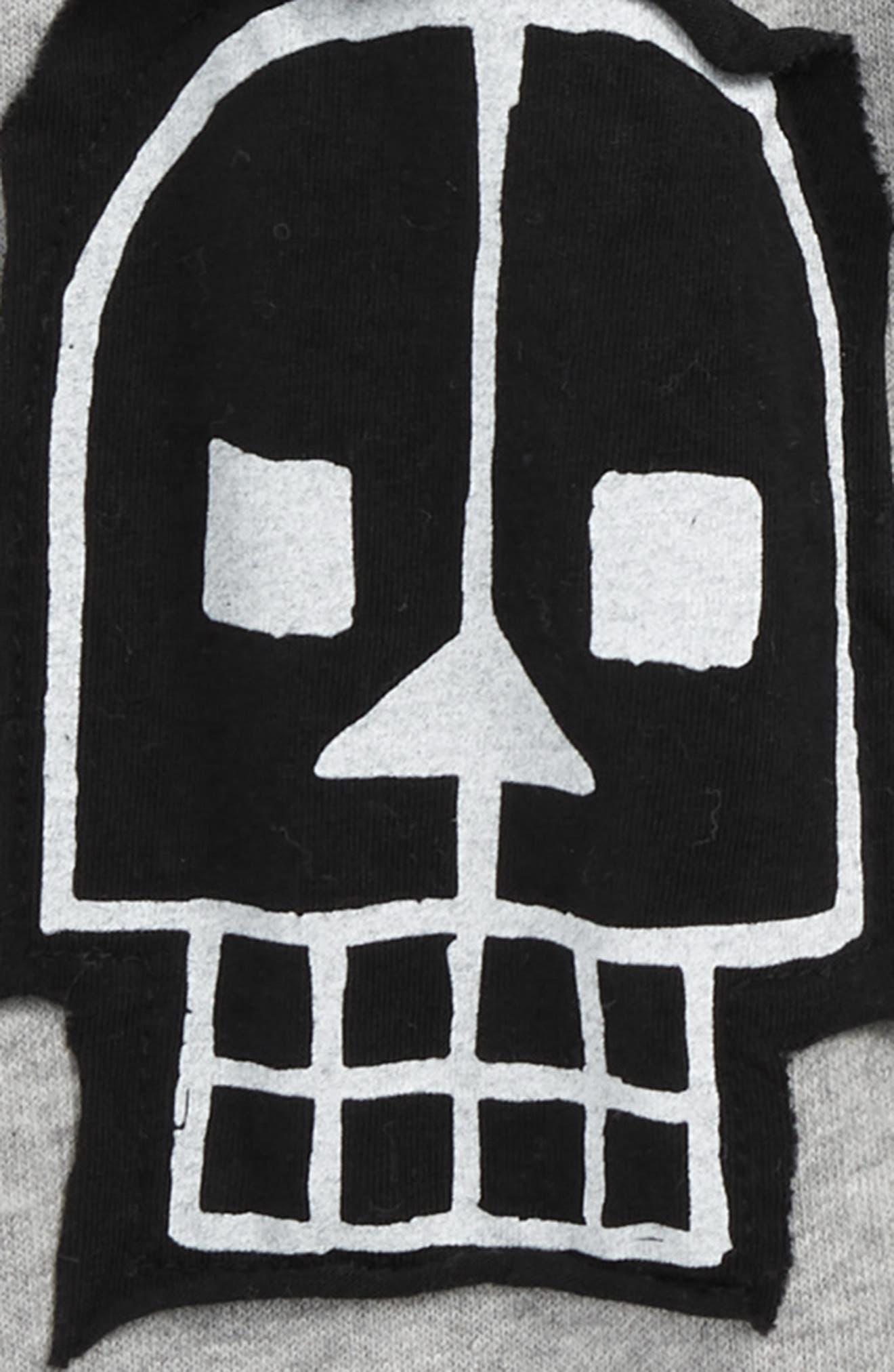 Skull Robot Patch Baggy Pants,                             Alternate thumbnail 3, color,                             050