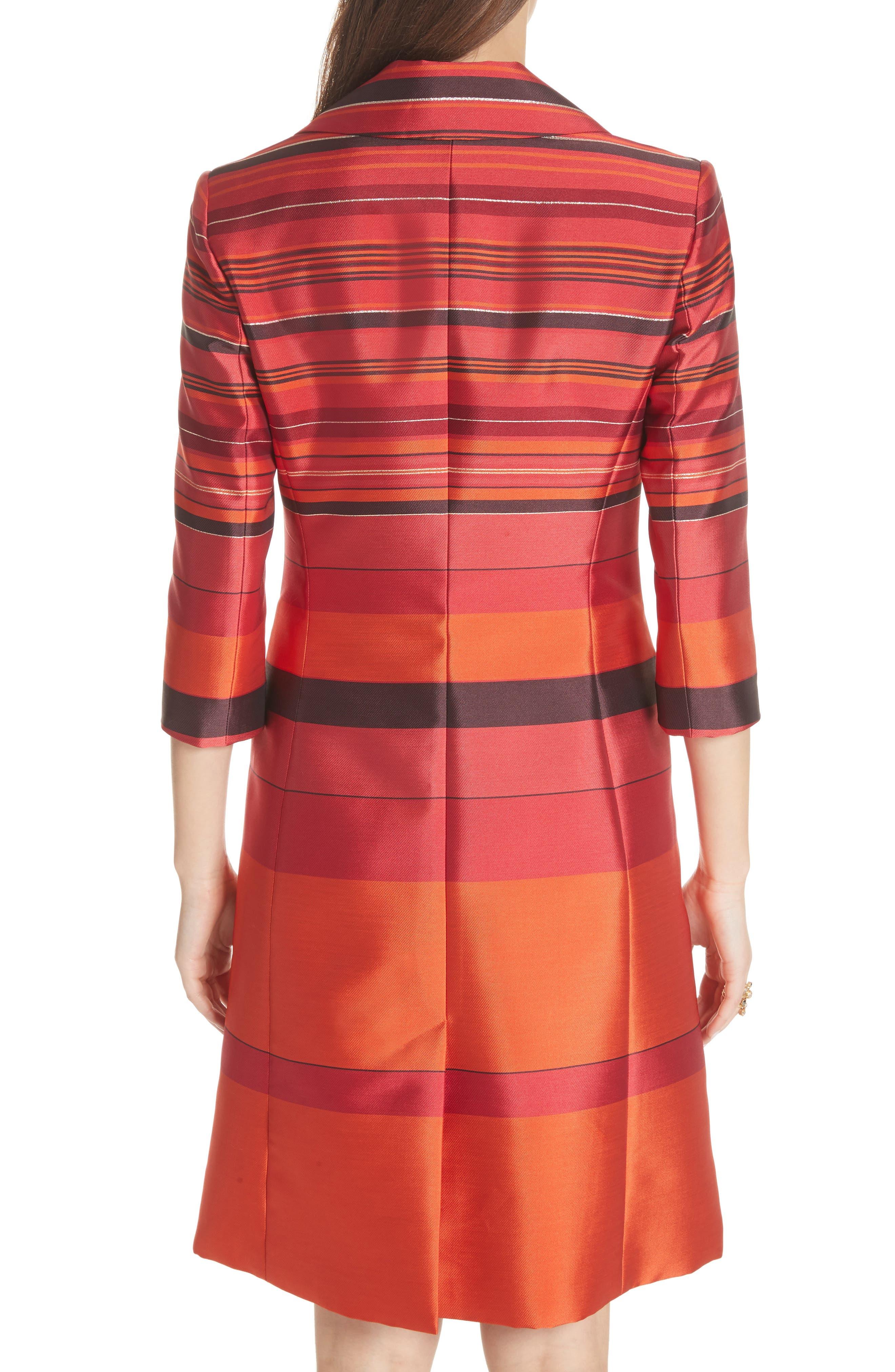 Metallic Stripe Jacquard Jacket,                             Alternate thumbnail 2, color,                             SIENNA MULTI