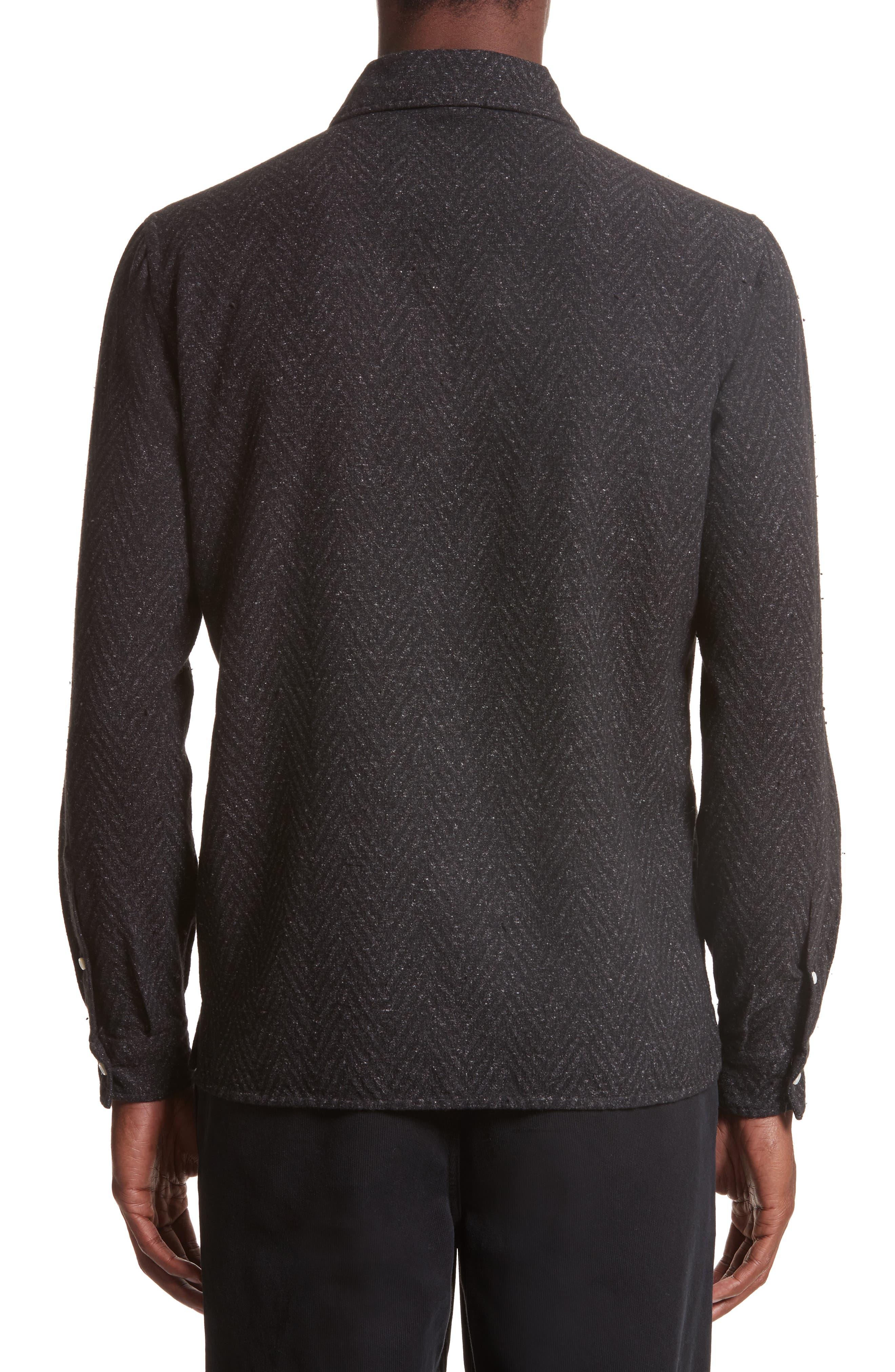 Napoli Herringbone Texture Shirt,                             Alternate thumbnail 2, color,                             062