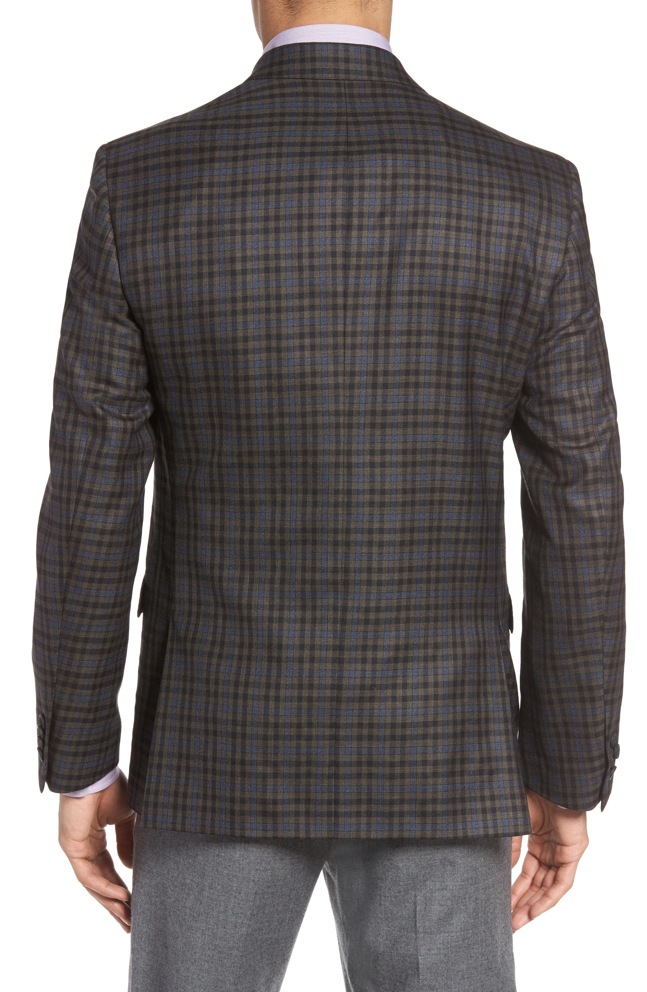 Classic Fit Check Wool Sport Coat,                             Alternate thumbnail 2, color,                             201