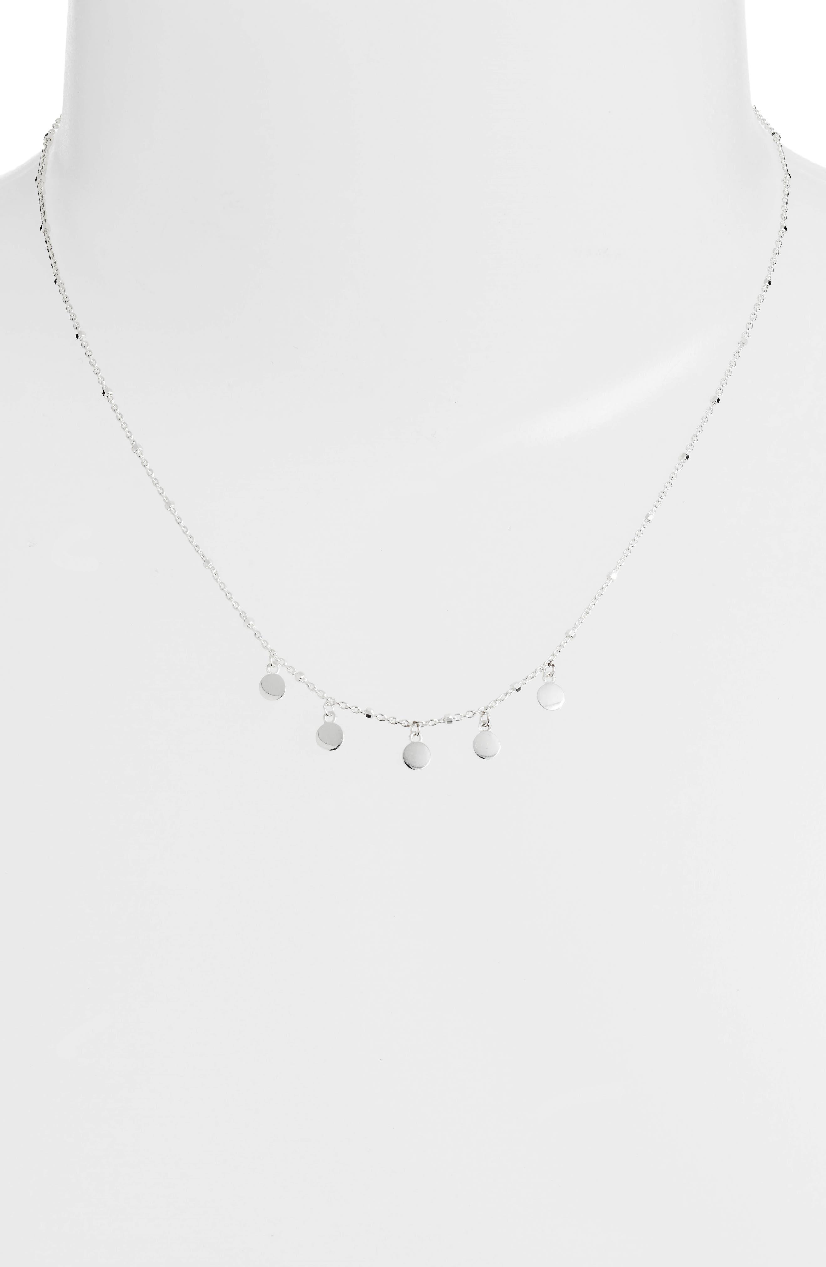 Mirror Charm Short Necklace,                             Alternate thumbnail 2, color,                             040