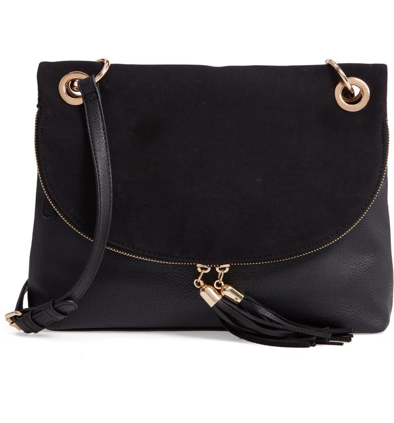 BP. Faux Leather Foldover Tassel Crossbody Bag  dfe8fb6b57a1b