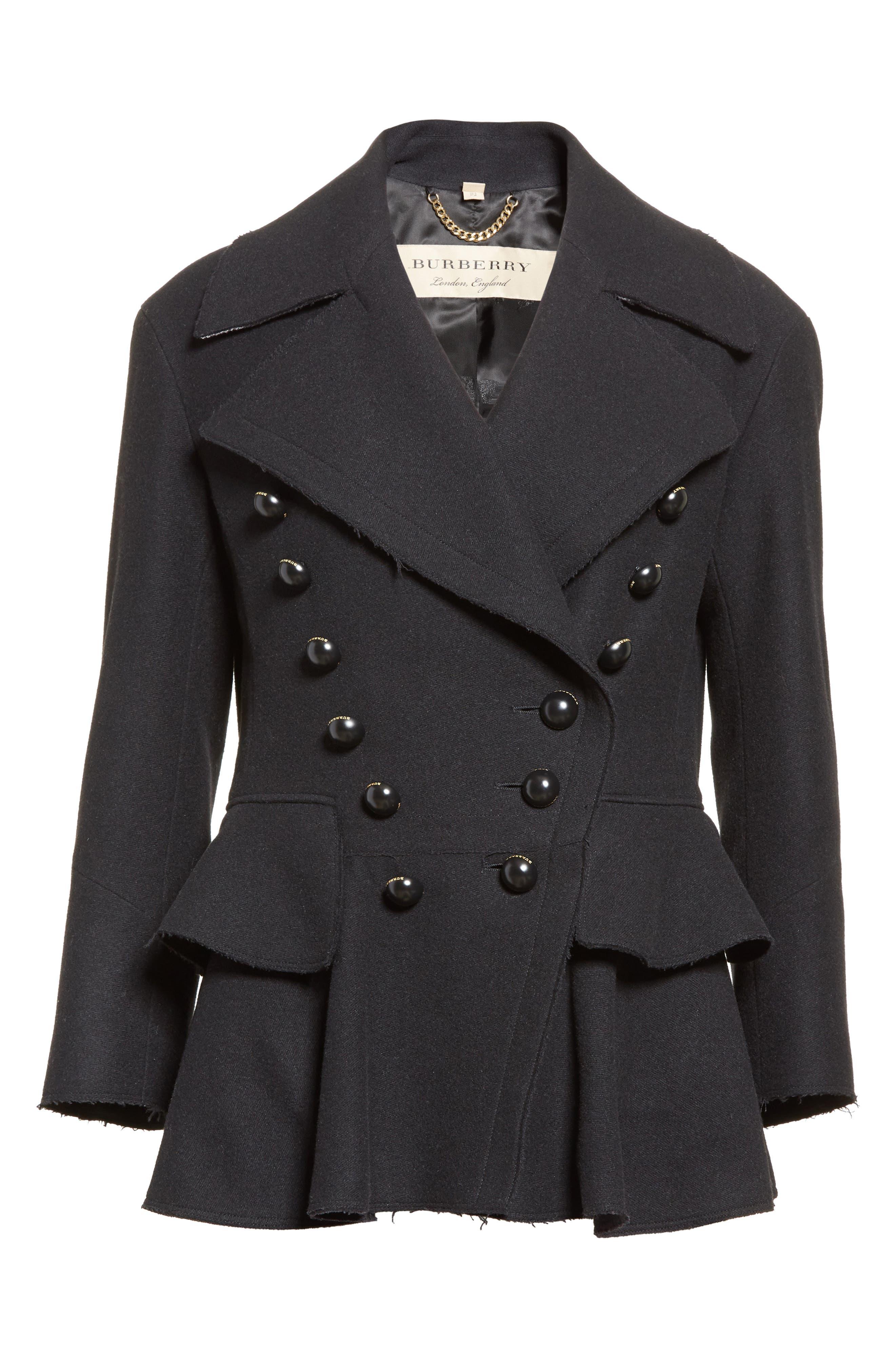 Alvingham Wool Blend Jacket,                             Alternate thumbnail 6, color,                             001