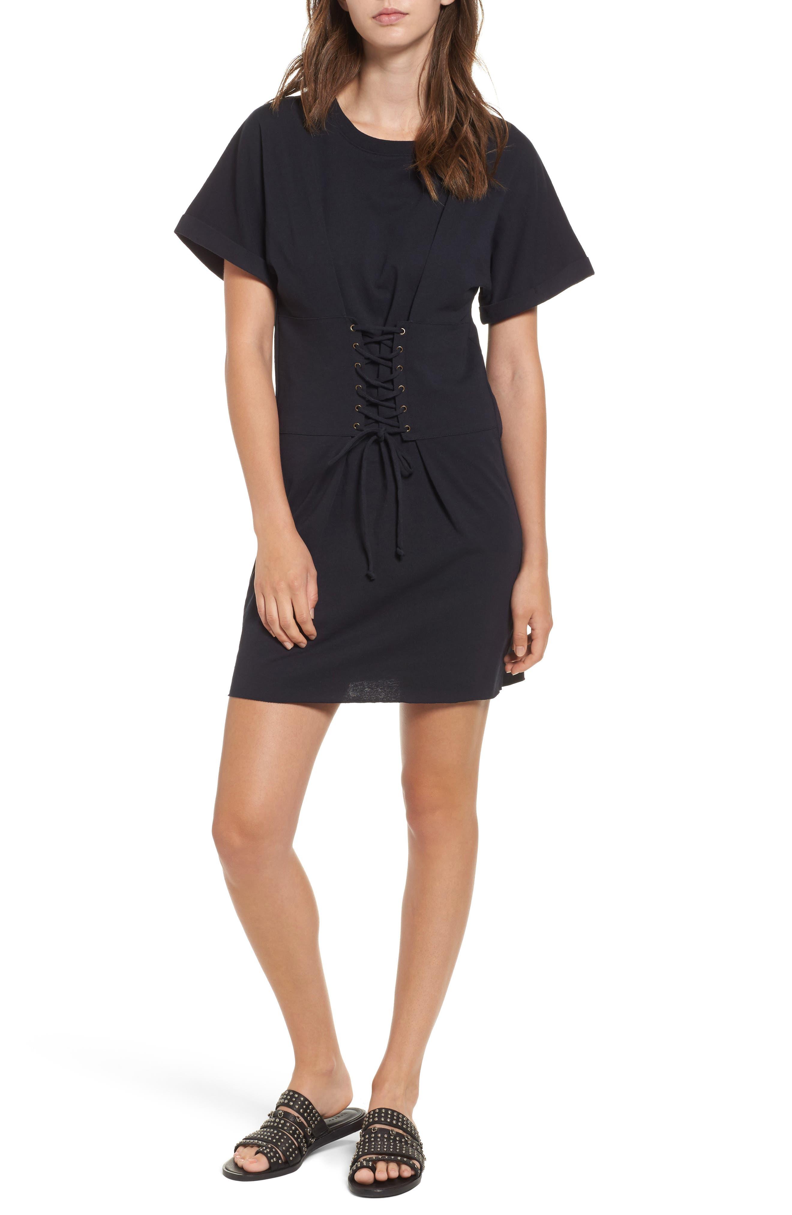 BP.,                             Corset Dress,                             Main thumbnail 1, color,                             001