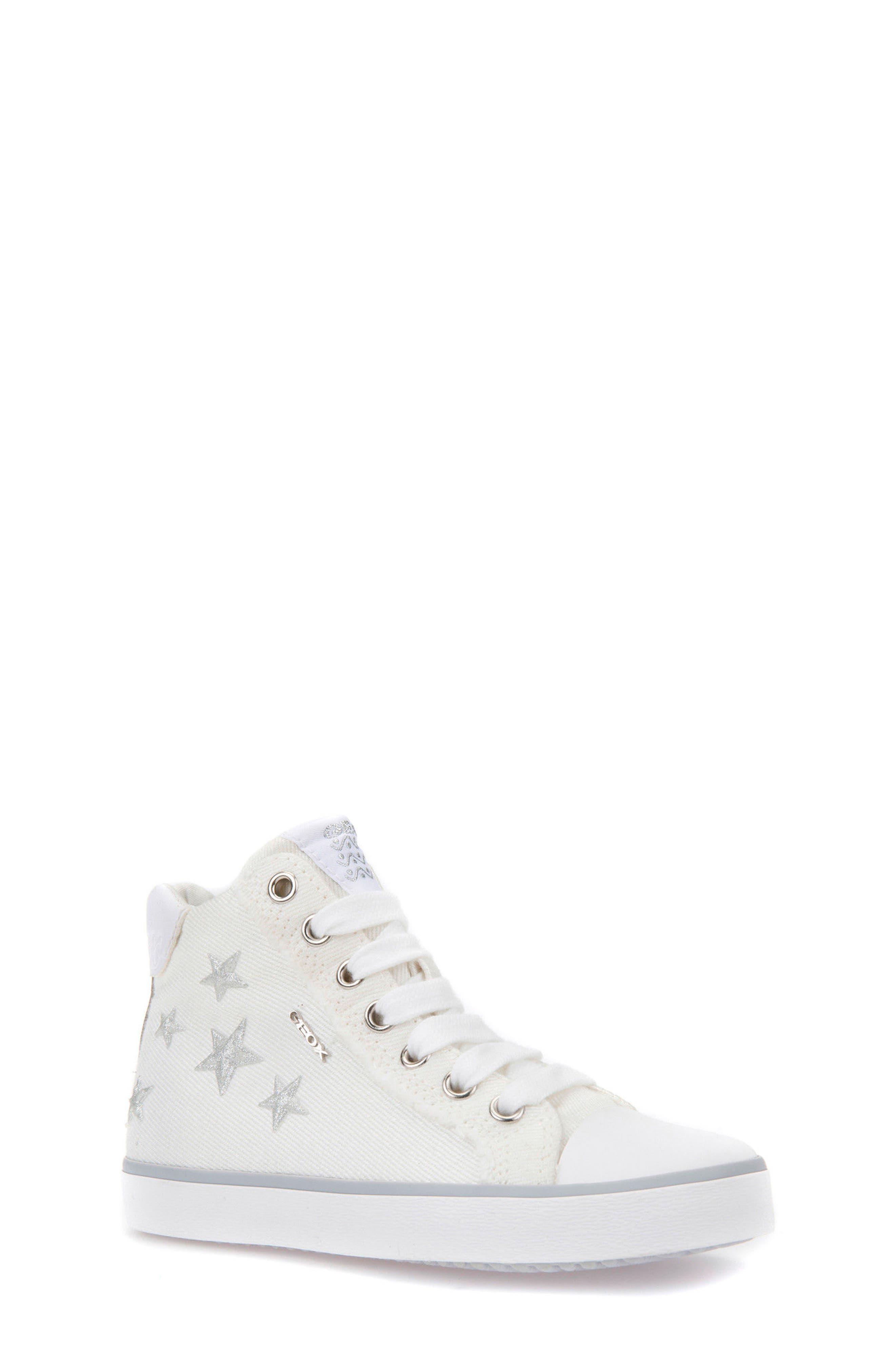 Kilwi High Top Zip Sneaker,                         Main,                         color, WHITE