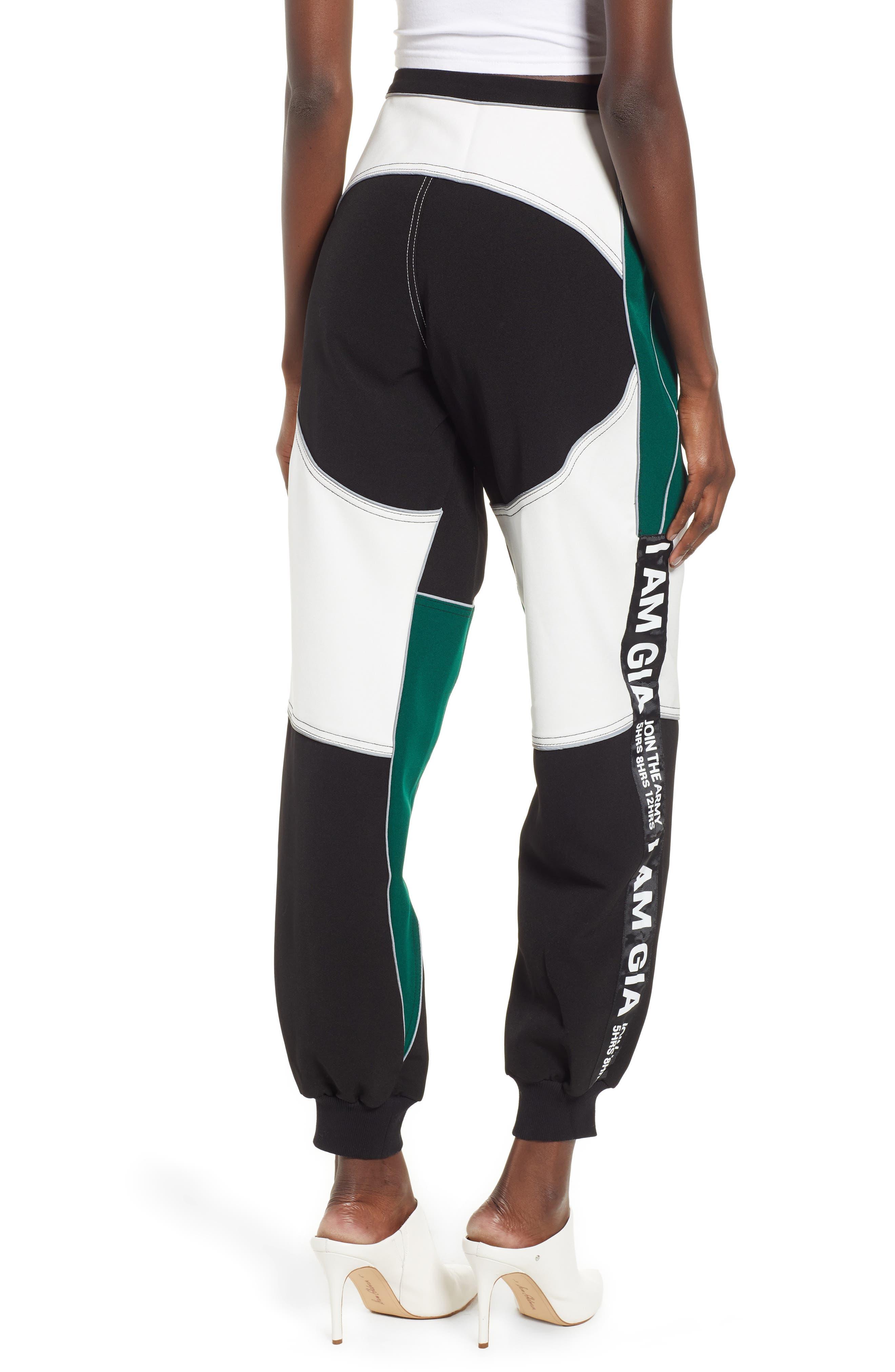 I.AM.GIA Electra Pants,                             Alternate thumbnail 2, color,                             BLACK/ GREEN