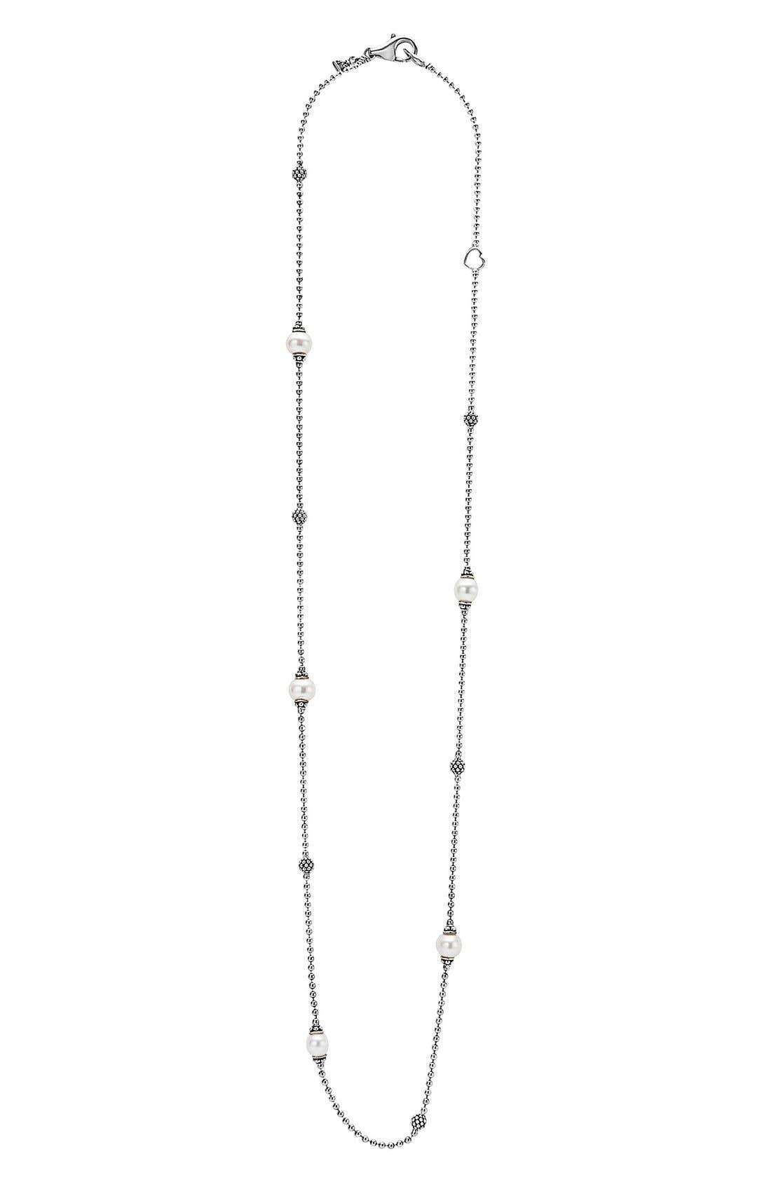 'Luna' Pearl Station Necklace,                             Alternate thumbnail 2, color,