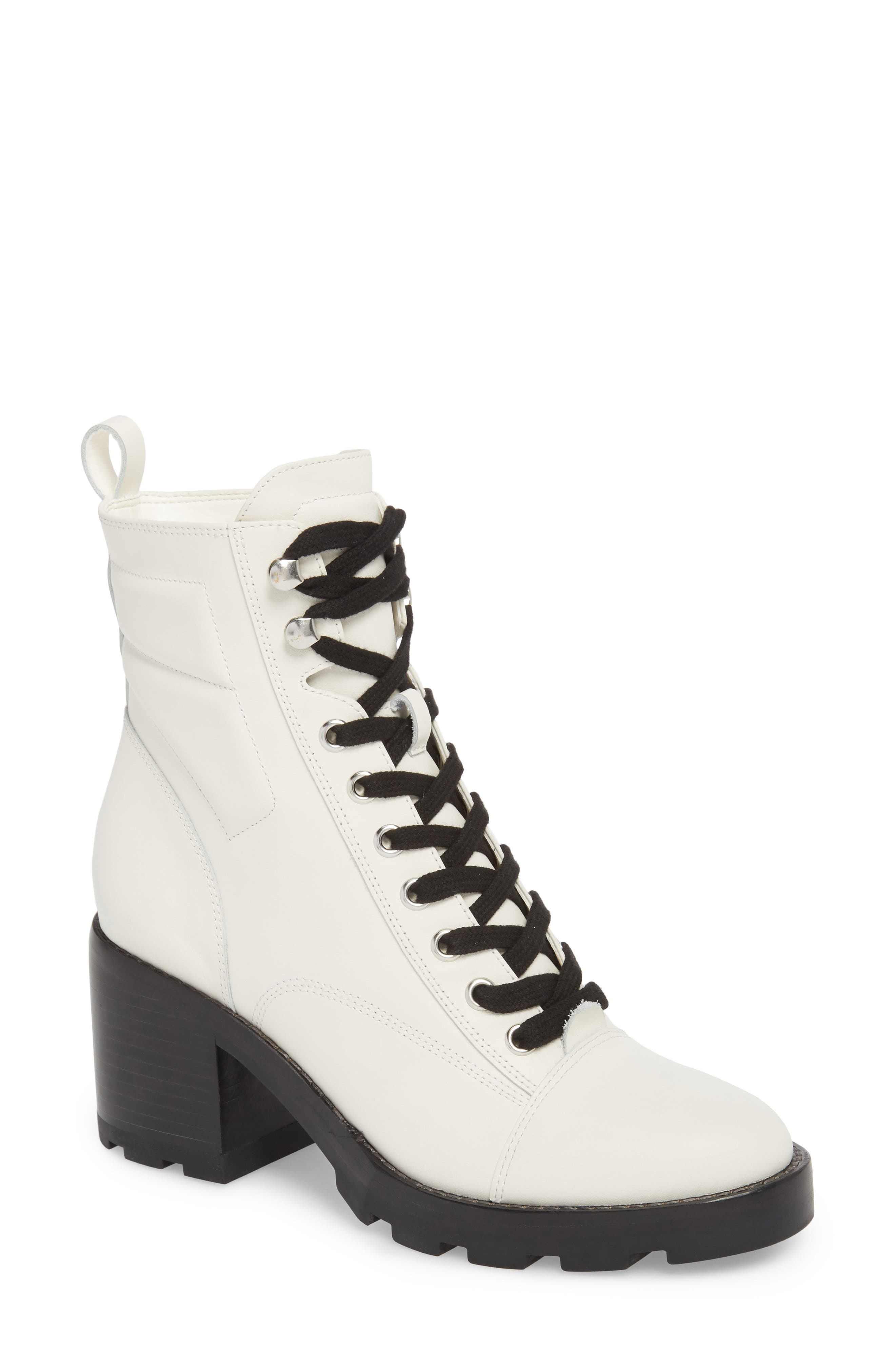 Warid Moto Bootie,                         Main,                         color, IVORY LEATHER