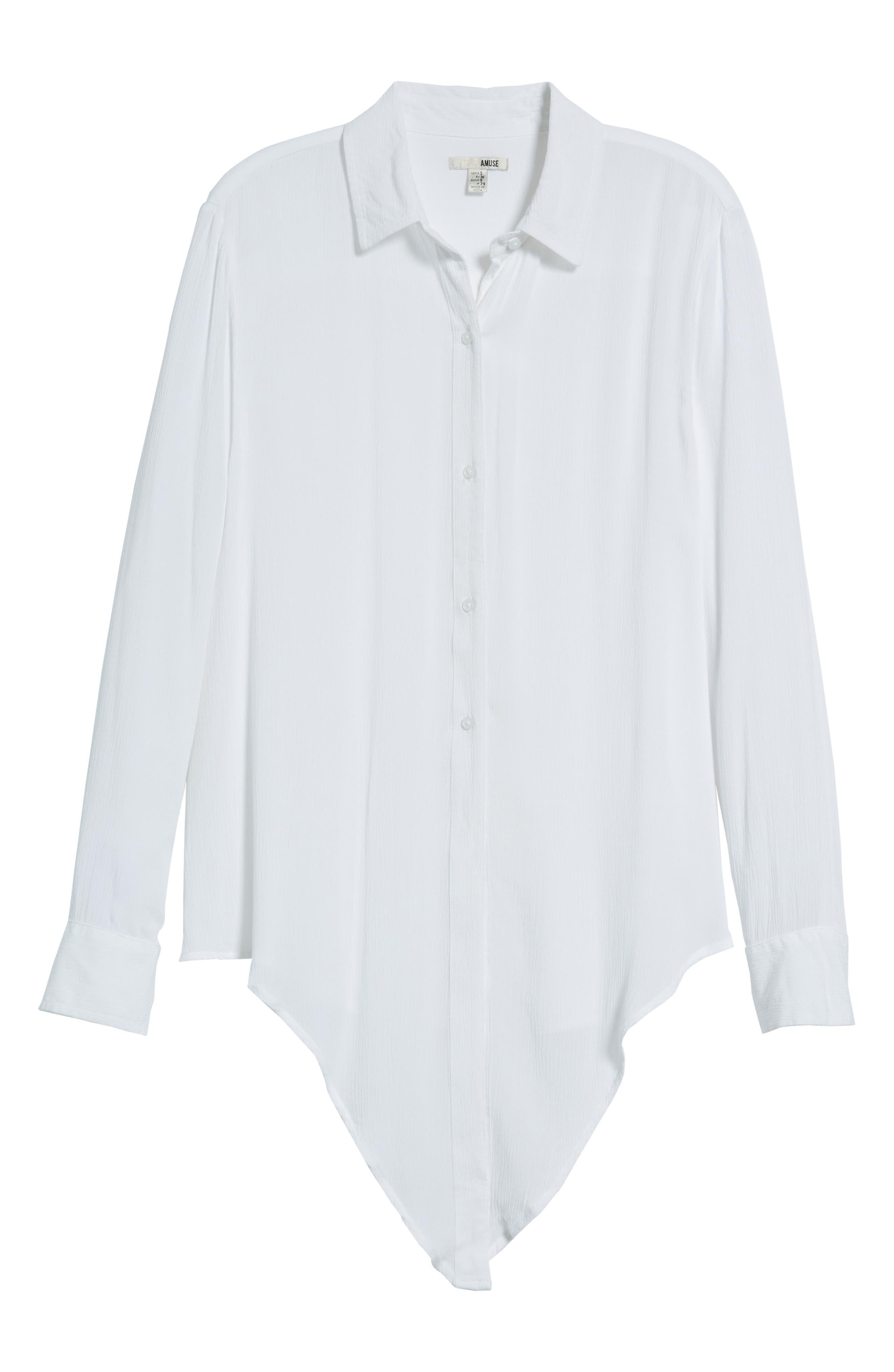 C'est La Vie Knotted Shirt,                             Alternate thumbnail 7, color,                             100