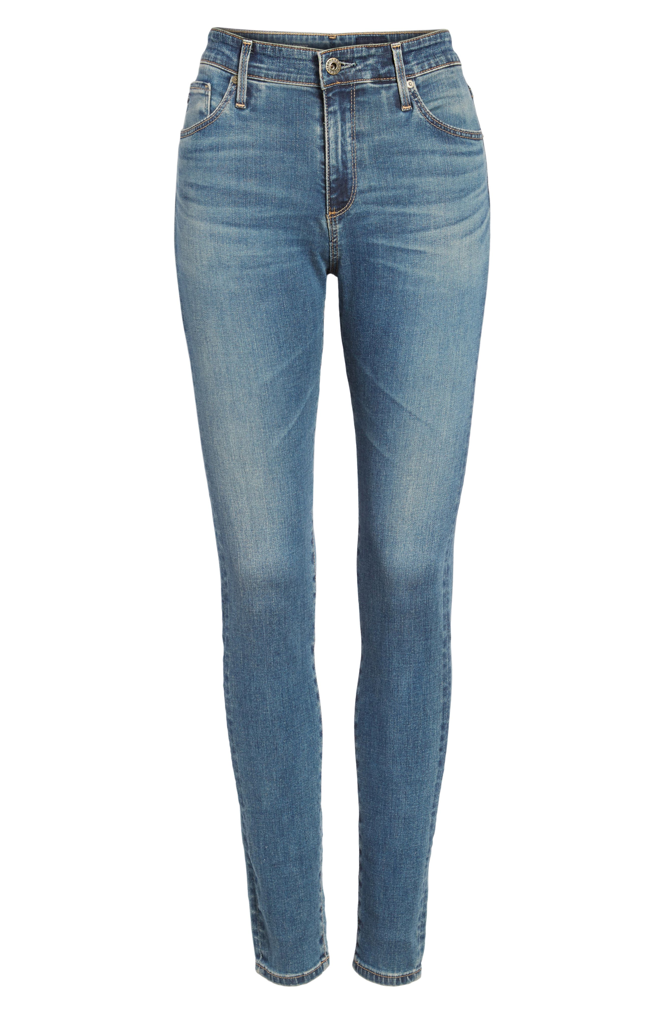 'The Farrah' High Rise Skinny Jeans,                             Alternate thumbnail 51, color,