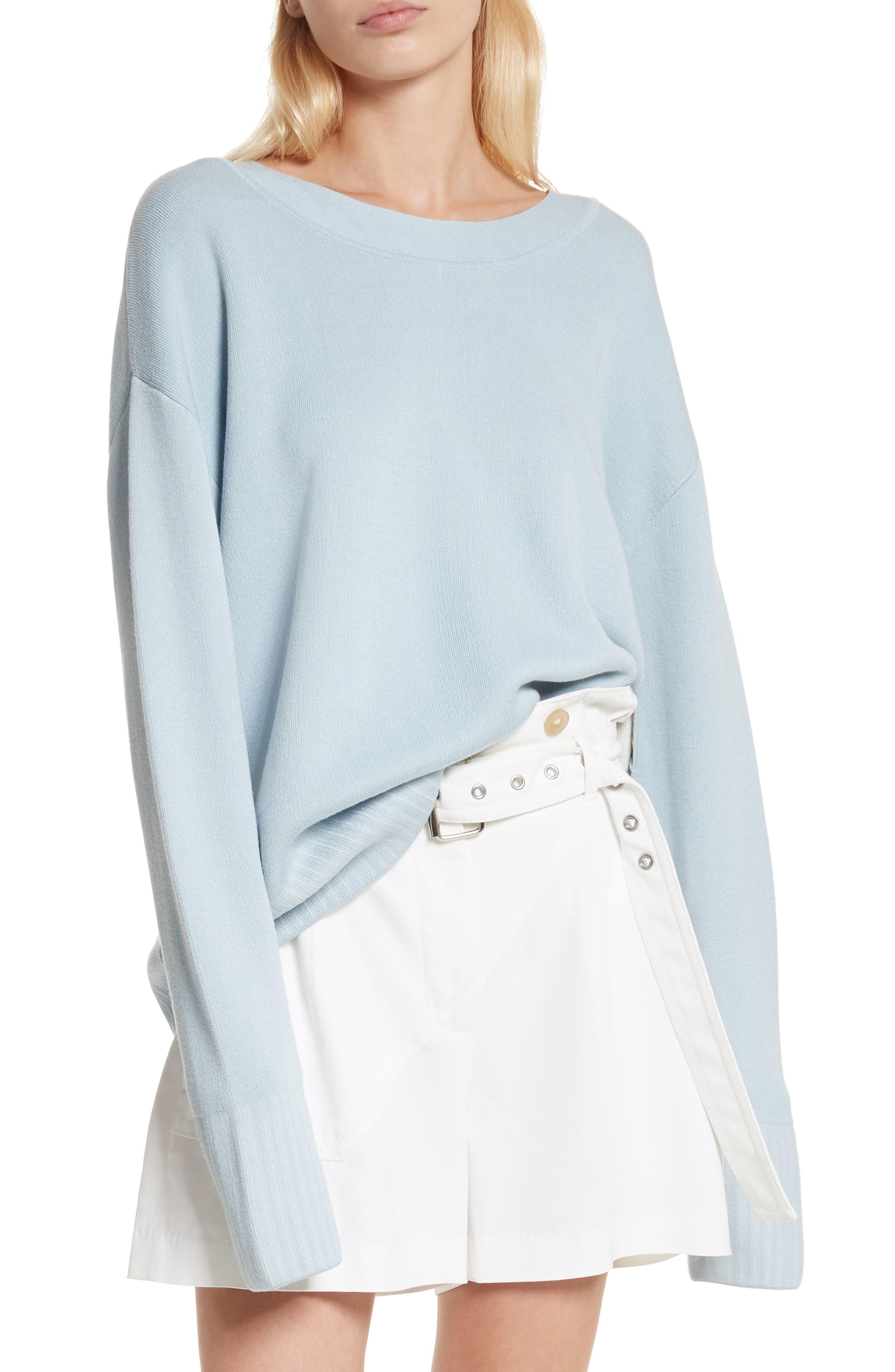 Silk & Cotton Blend Sweater,                             Main thumbnail 1, color,                             450