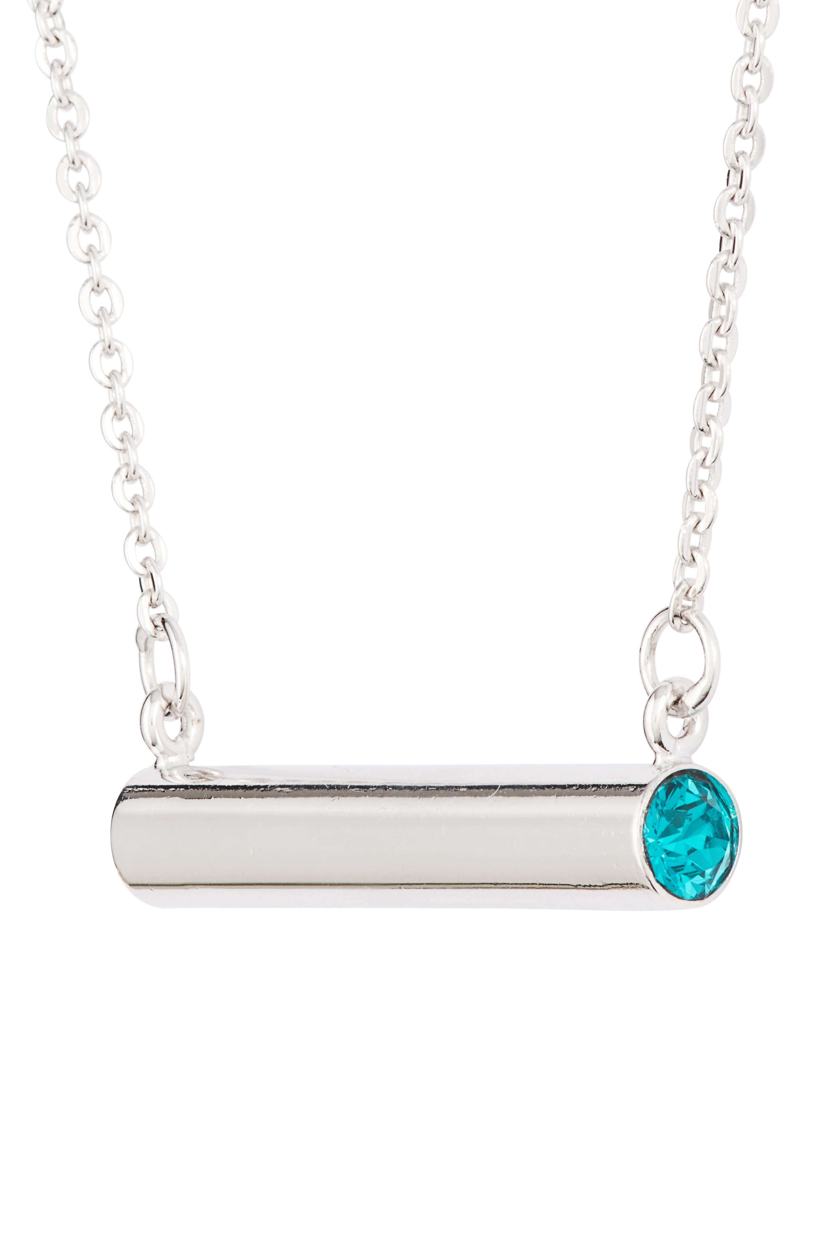 December Crystal Bar Pendant Necklace,                             Alternate thumbnail 3, color,                             040