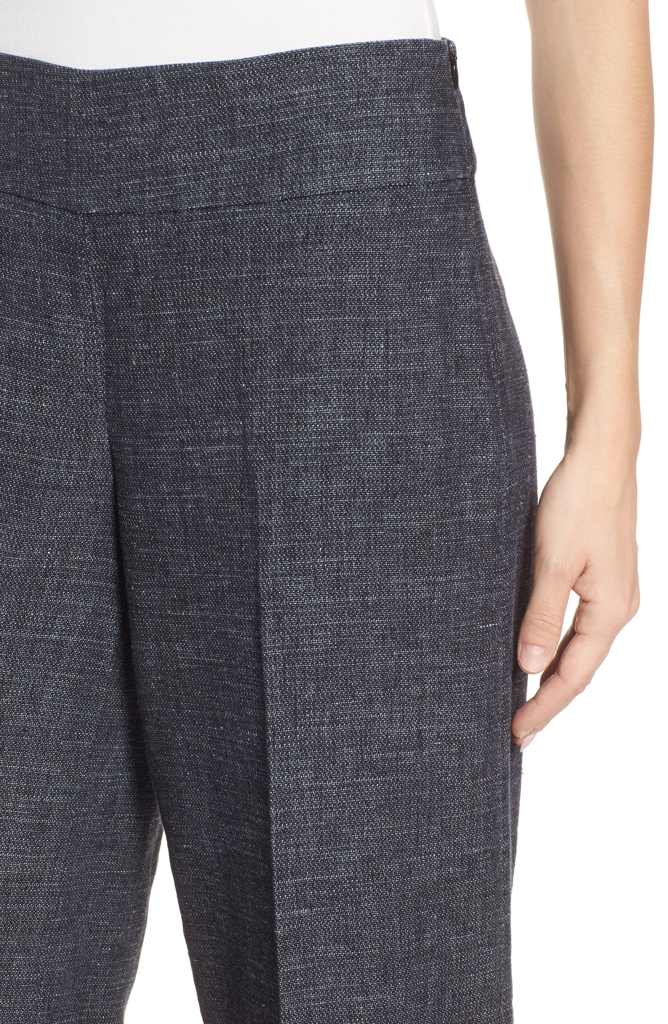 Crop Wide Leg Pants,                             Alternate thumbnail 4, color,                             402