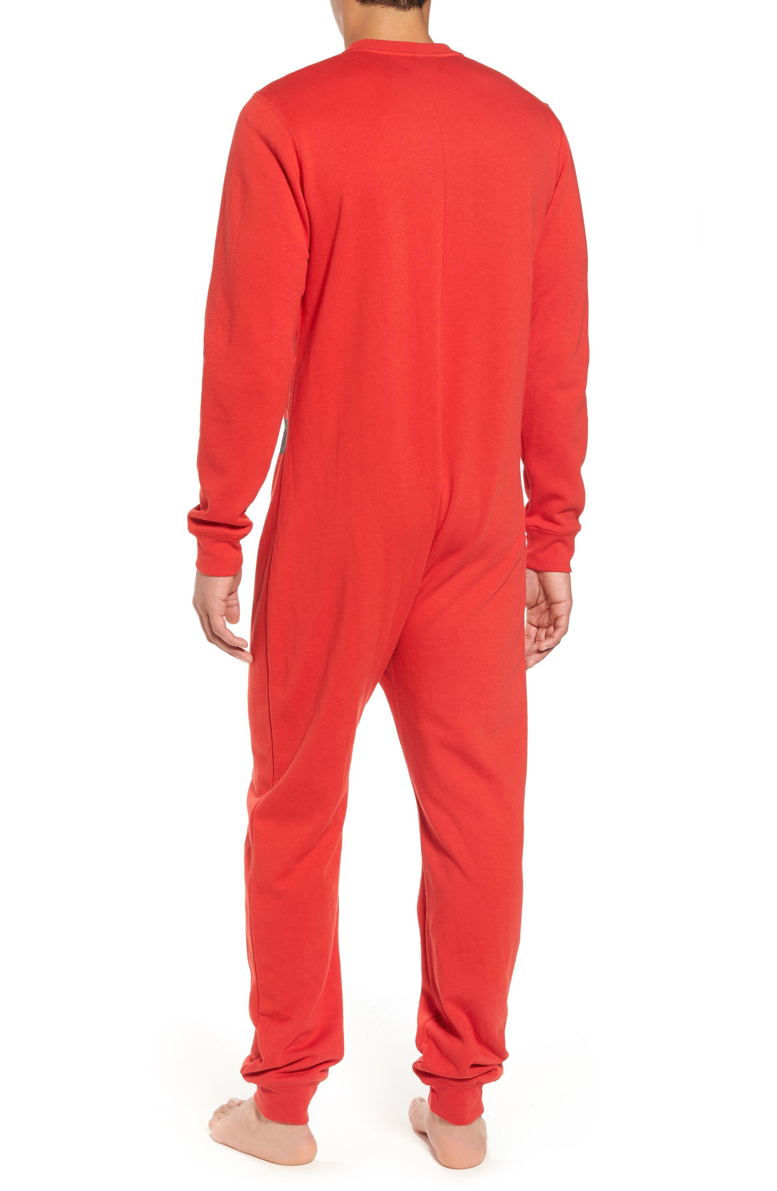 Fleece One-Piece Pajamas,                             Alternate thumbnail 9, color,