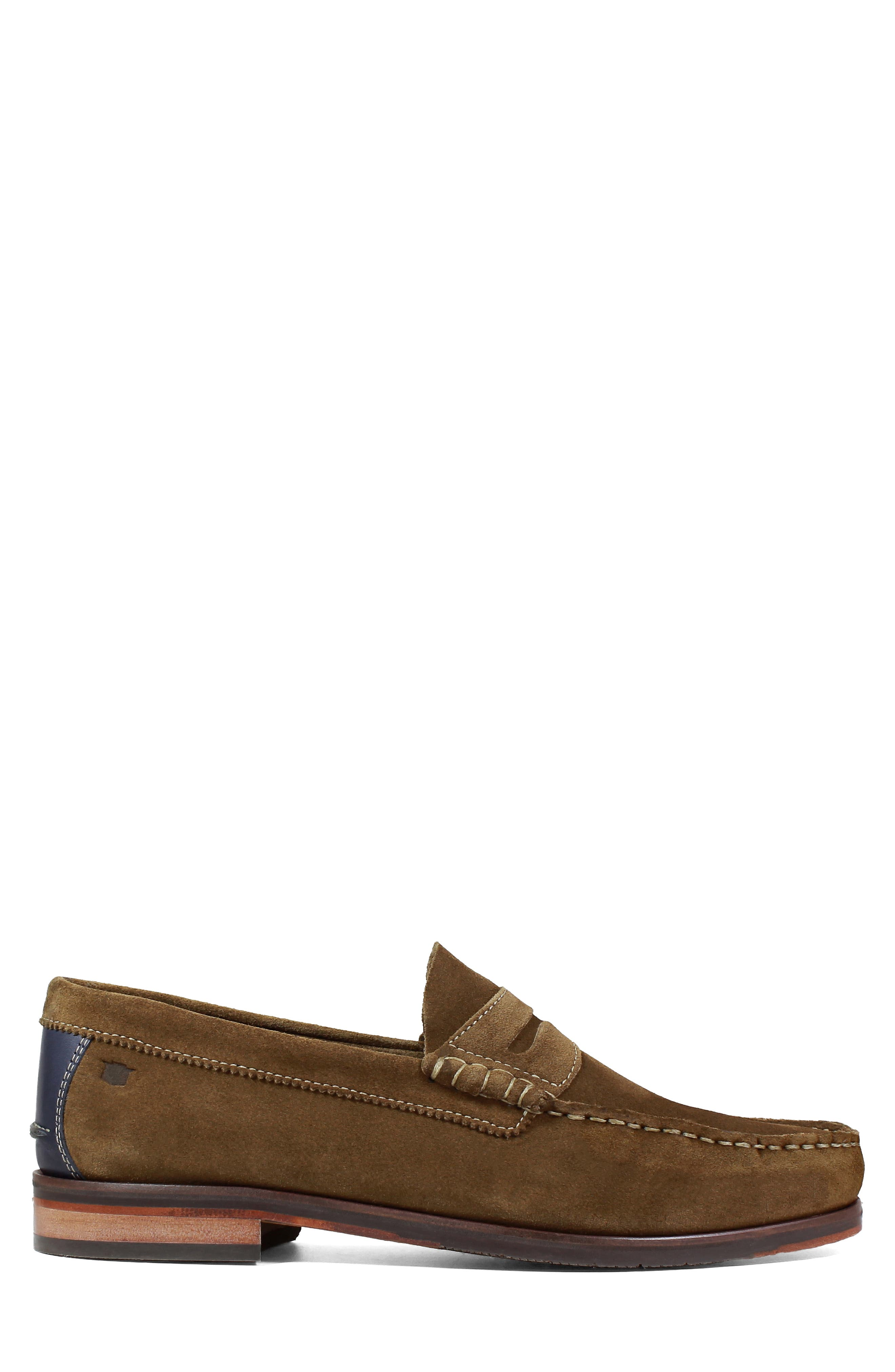 Heads-Up Penny Loafer,                             Alternate thumbnail 3, color,                             SNUFF SUEDE