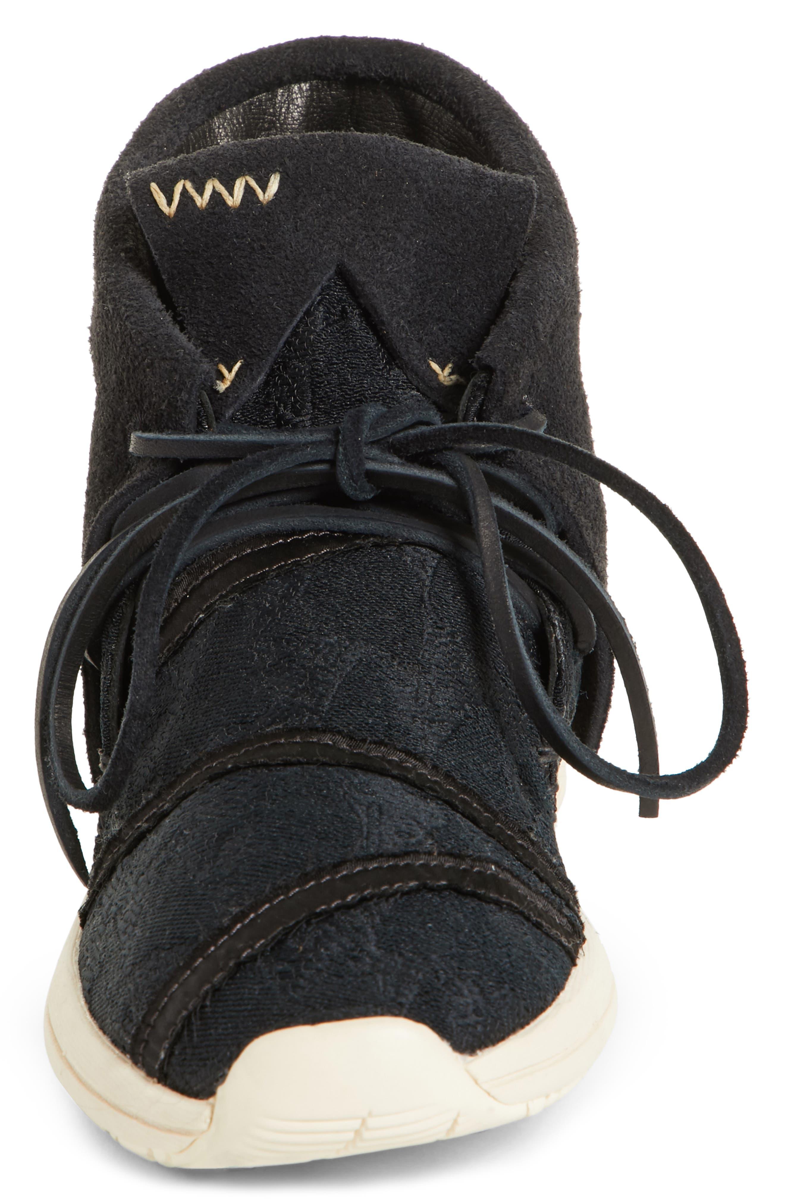 Huron Lhamo Hi Folk Hidden Wedge Sneaker,                             Alternate thumbnail 4, color,                             004