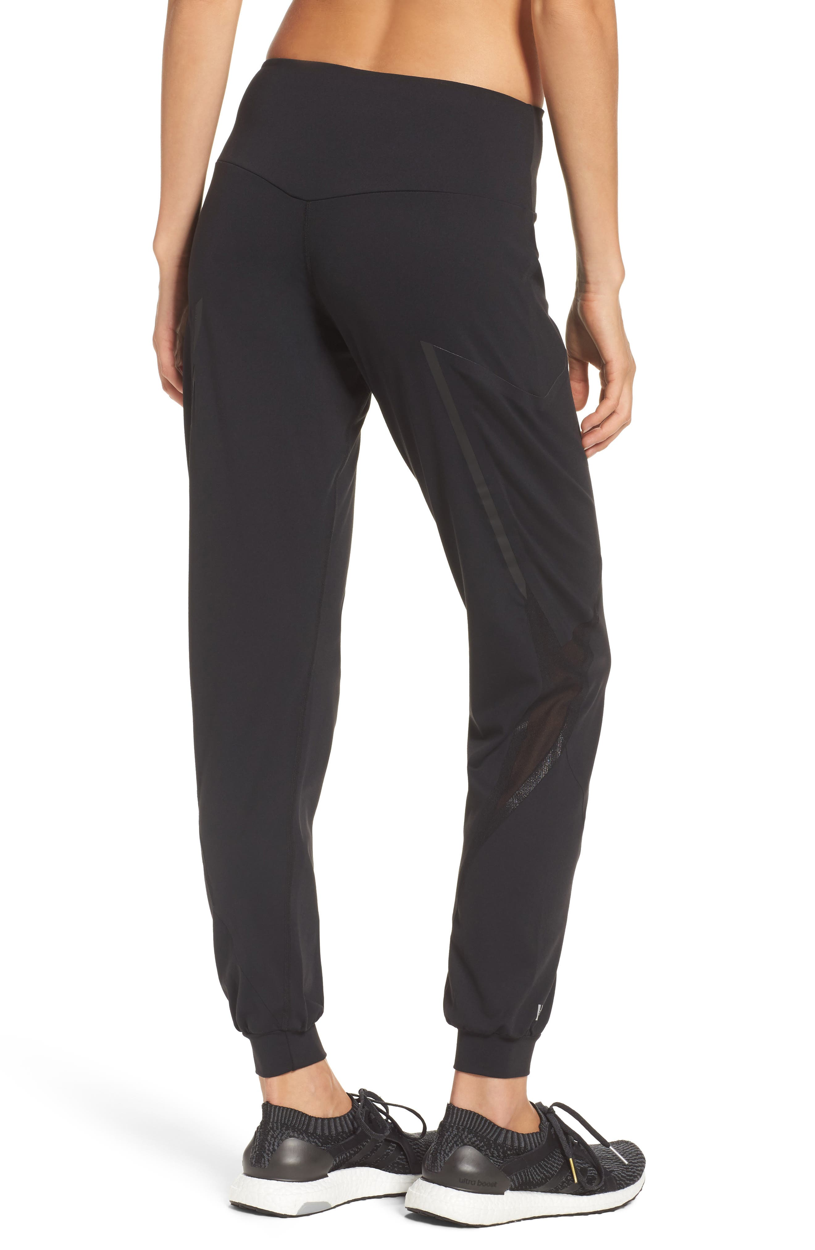 BoomBoom Athletica Track Pants,                             Alternate thumbnail 2, color,                             BLACK