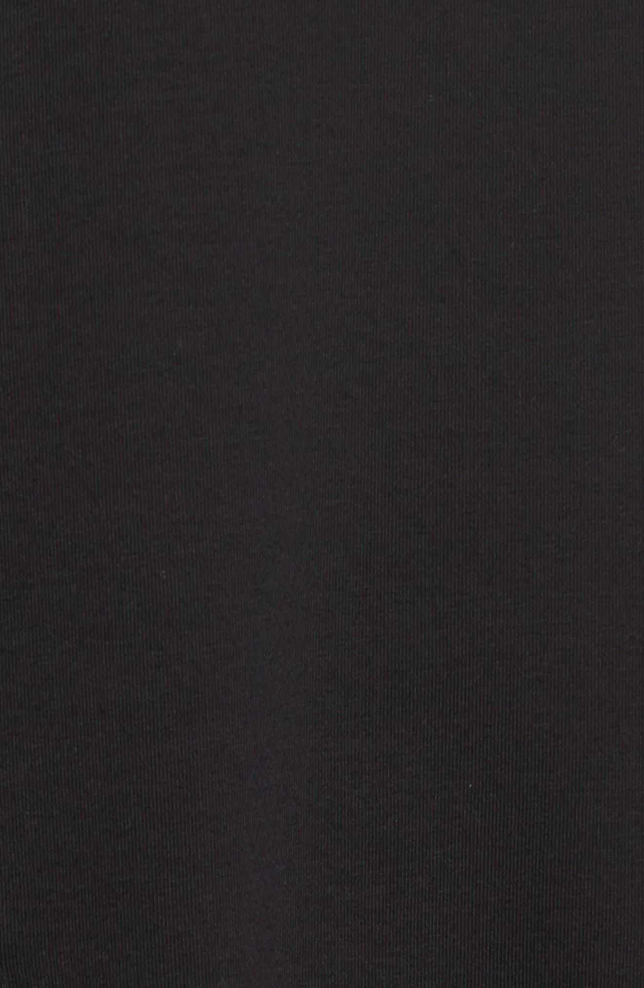 Knit Pocket Top,                             Alternate thumbnail 6, color,                             001