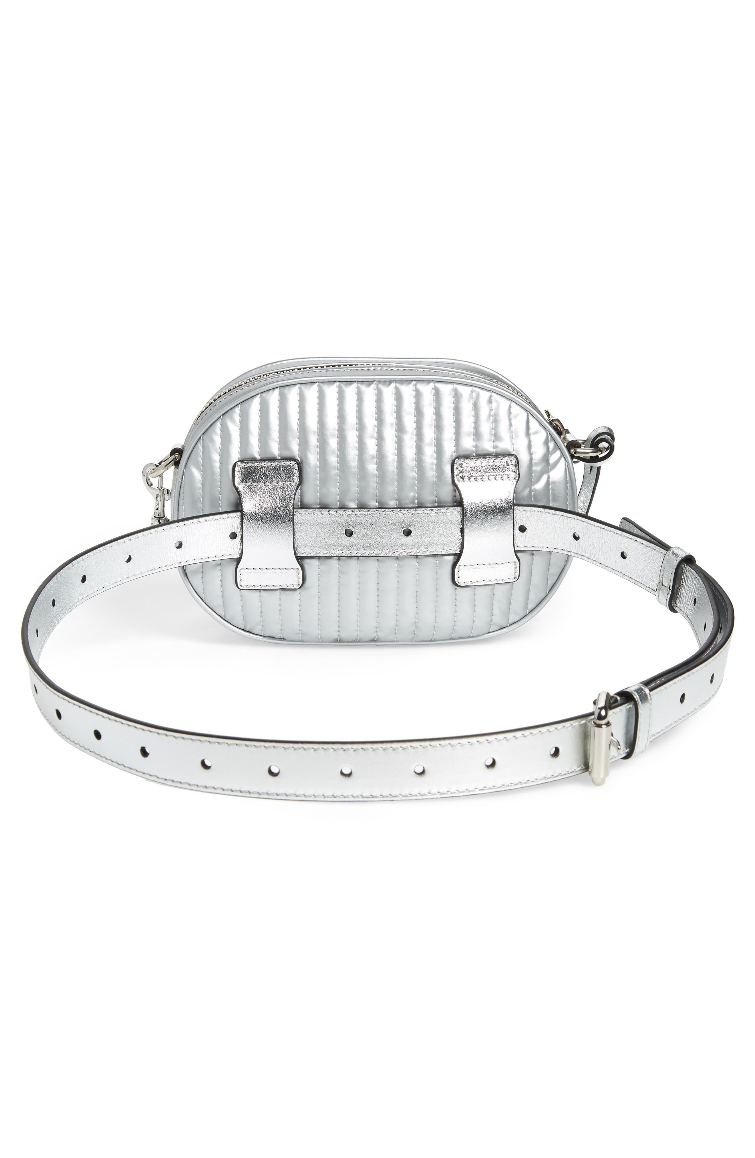 Silver Teddy Belt Bag,                             Alternate thumbnail 4, color,                             045