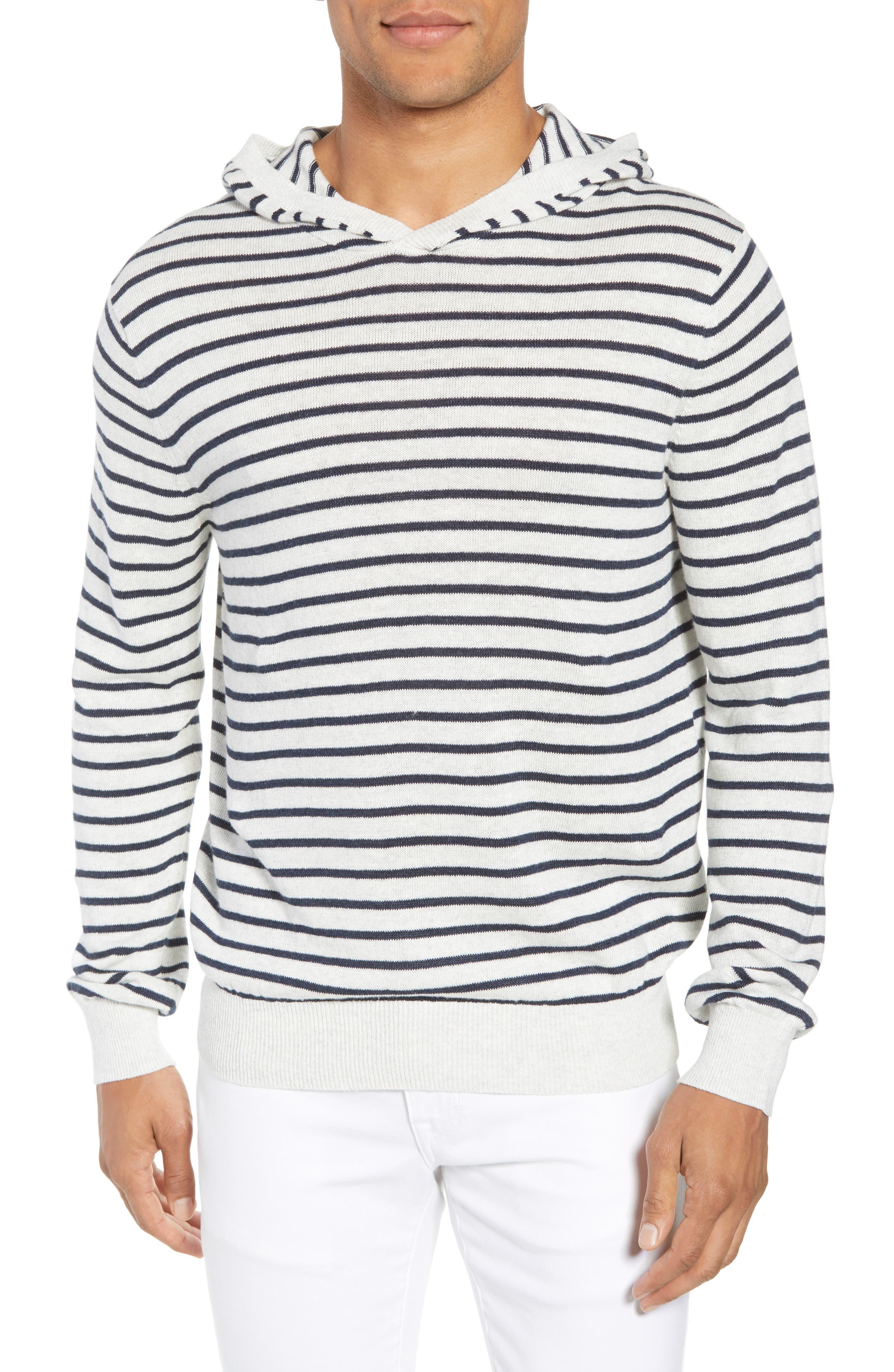 Stripe Hoodie,                         Main,                         color, H WHITE/ H NEW COASTAL