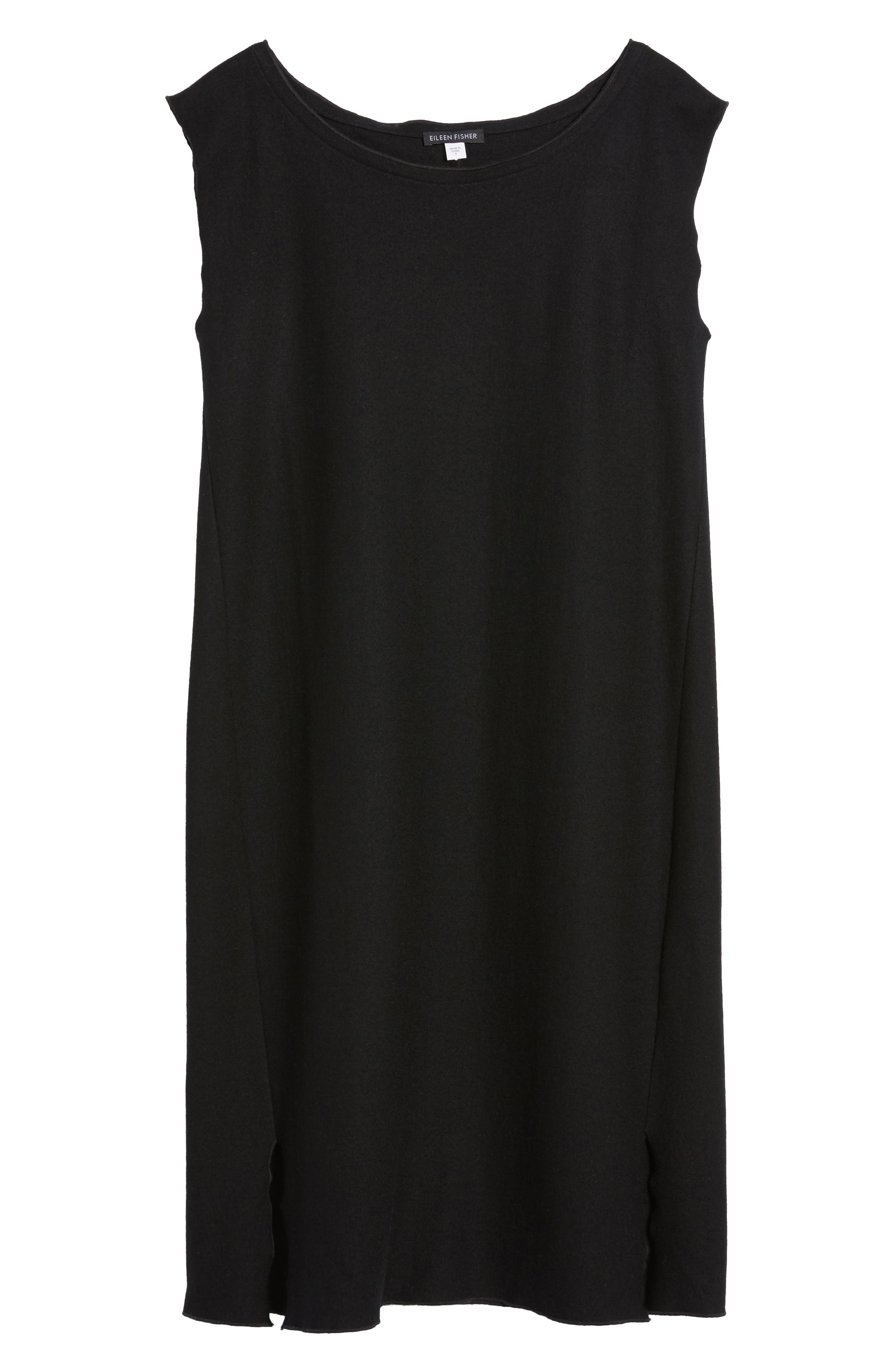 Wool Jersey Shift Dress,                             Alternate thumbnail 6, color,                             001