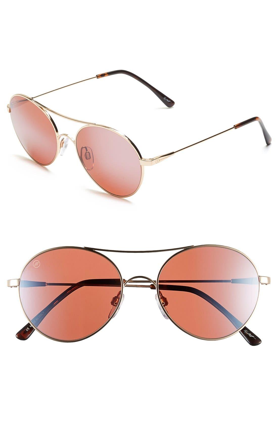 'Huxley' 53mm Round Sunglasses,                             Main thumbnail 3, color,