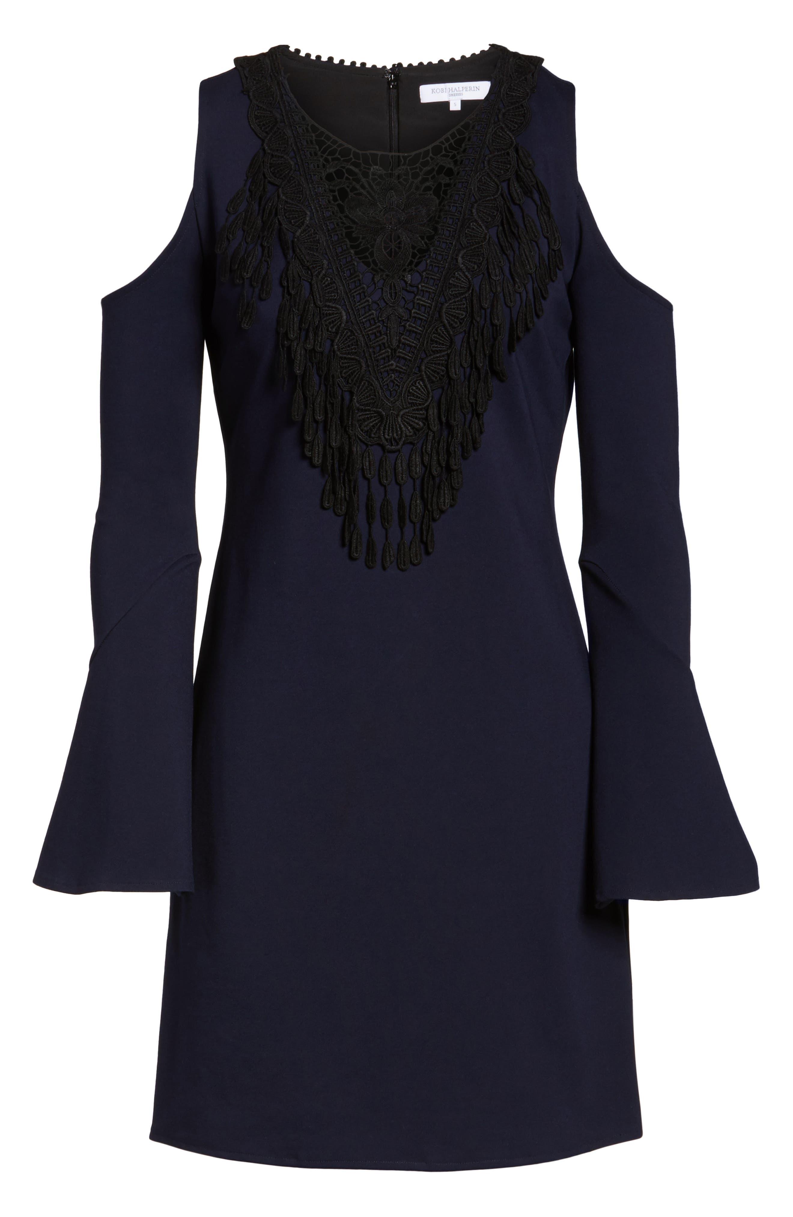 Brie Double Knit Shift Dress,                             Alternate thumbnail 12, color,