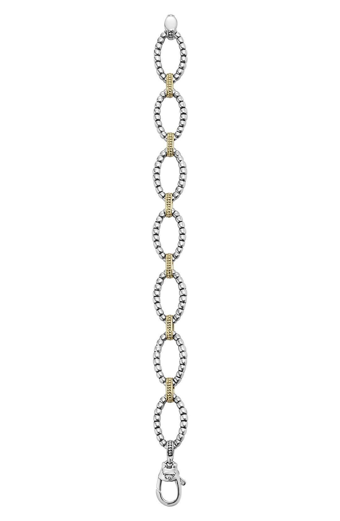Two-Tone Link Bracelet,                             Alternate thumbnail 3, color,