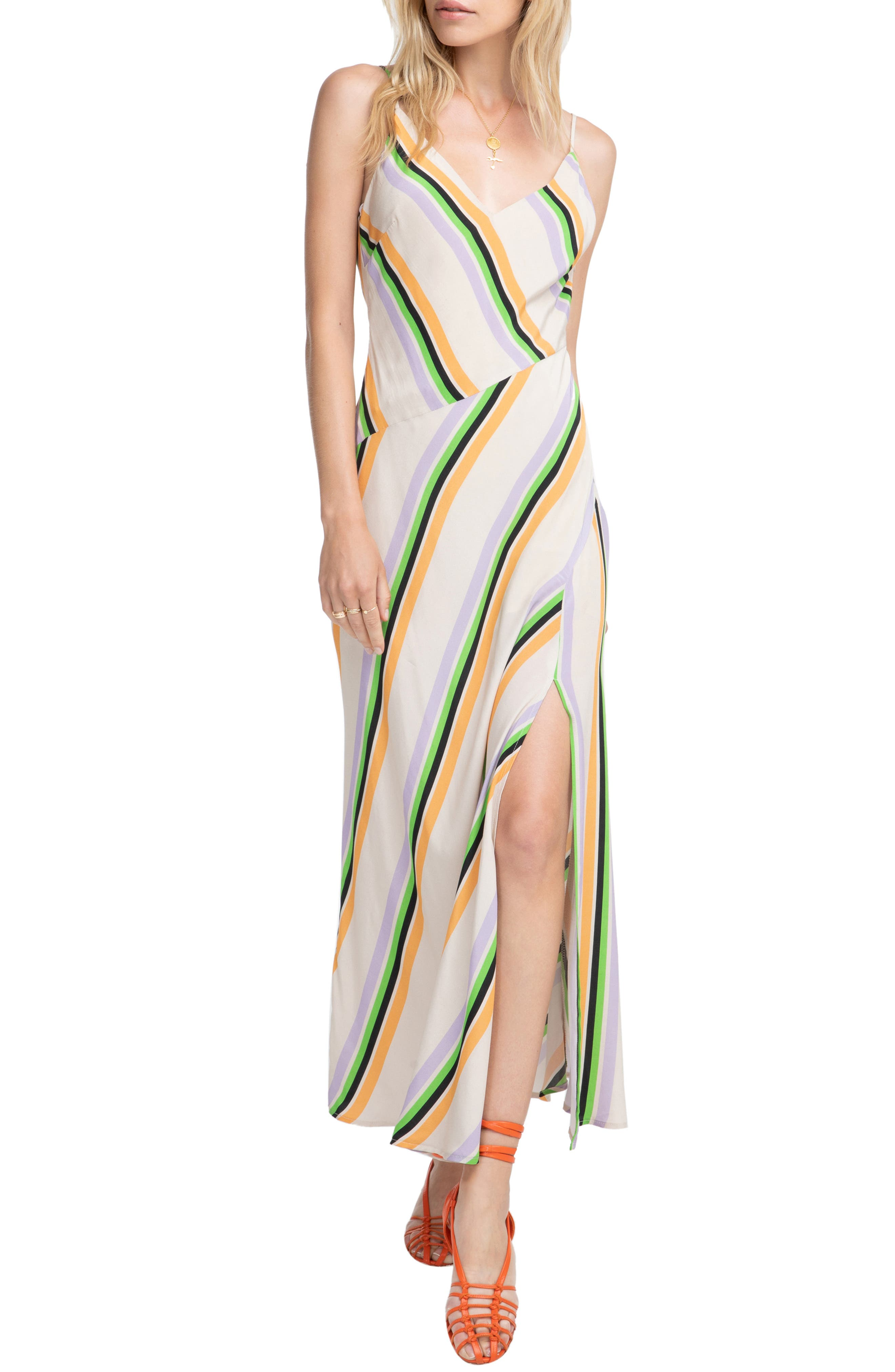 Astr The Label Jessi Maxi Dress, Beige