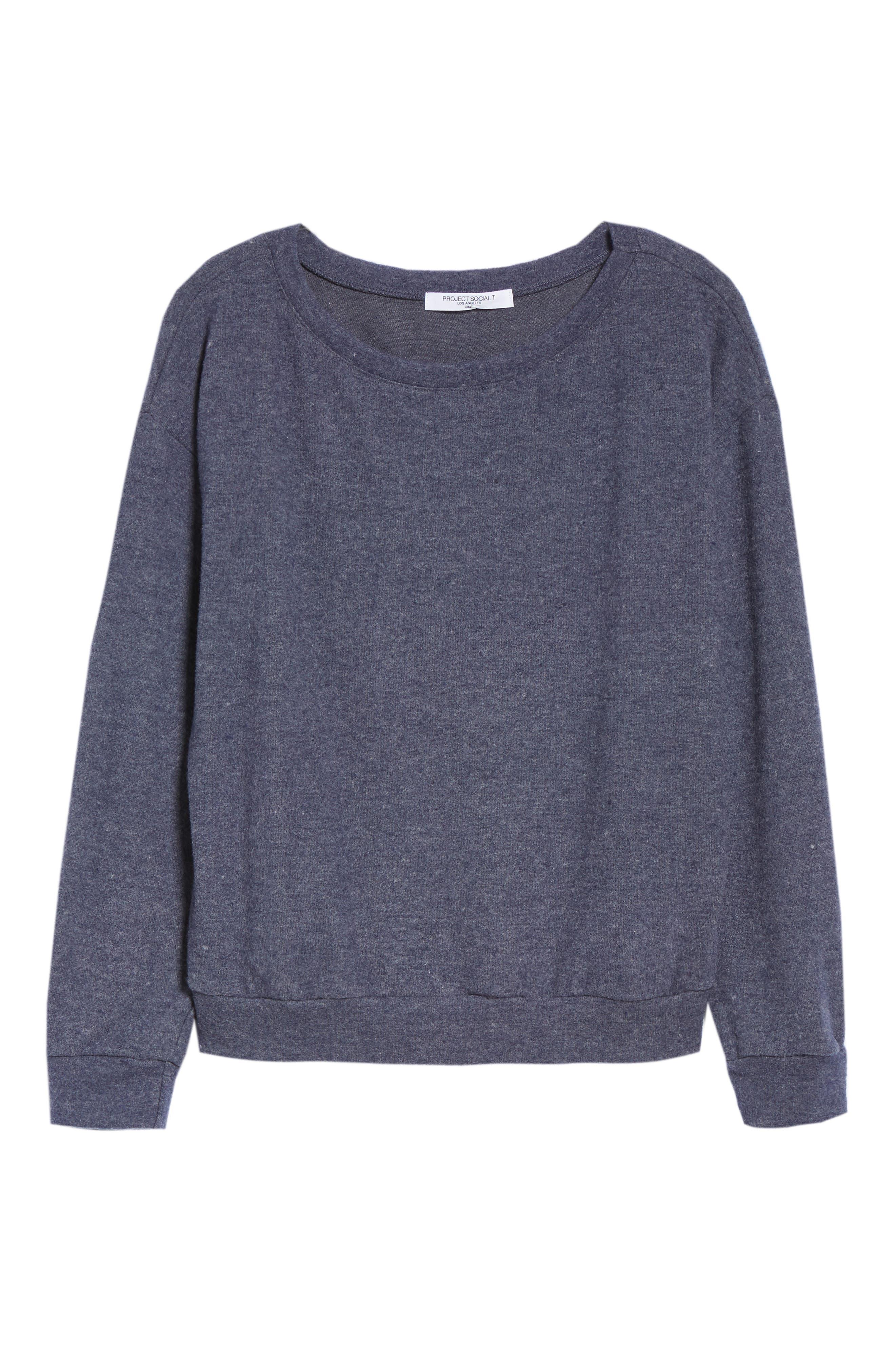 Keys Sweatshirt,                             Alternate thumbnail 6, color,                             HEATHER NAVY