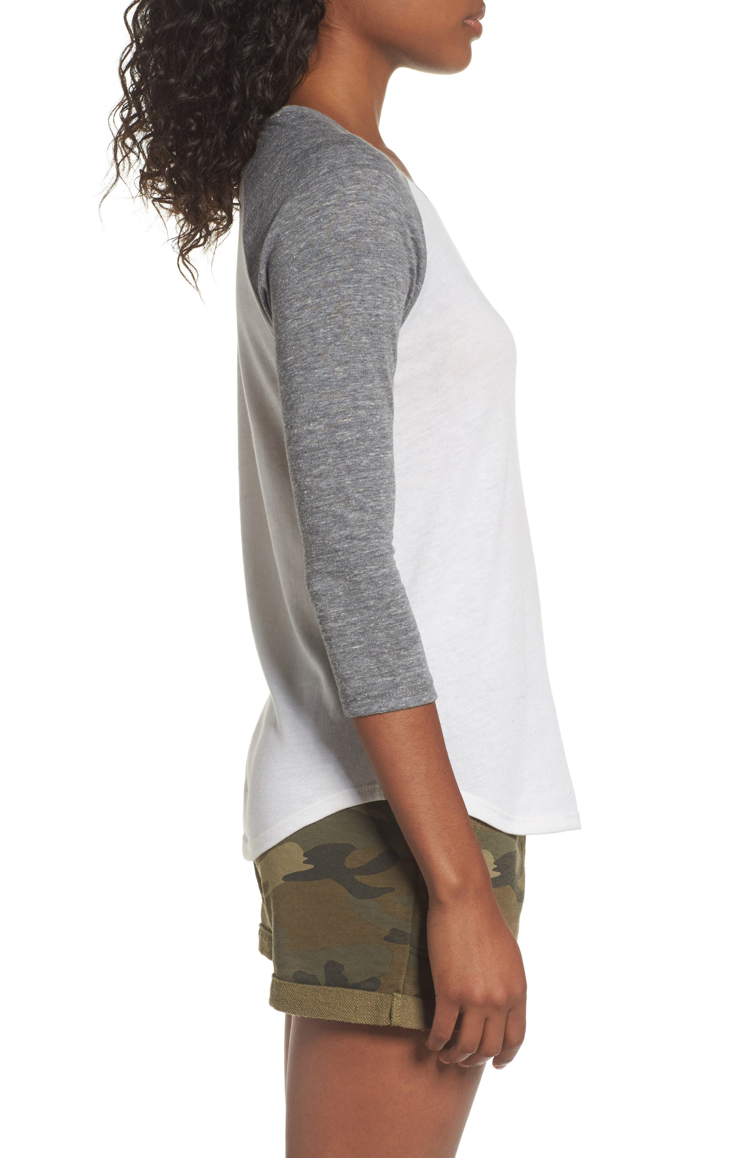 Baseball Tee,                             Alternate thumbnail 3, color,                             ECO IVORY