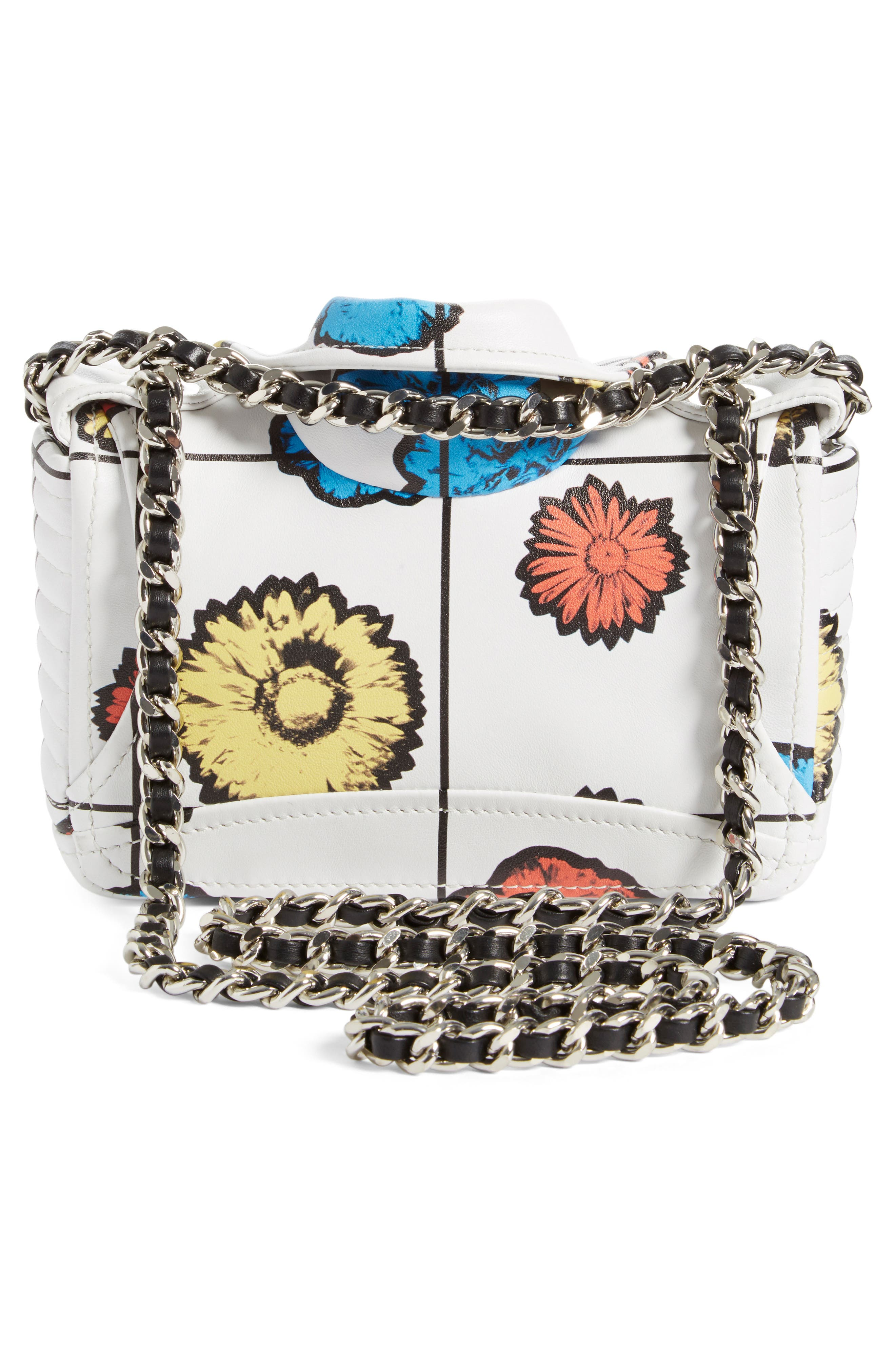 'Small Biker Jacket - Floral Print' Shoulder/Crossbody Bag,                             Alternate thumbnail 5, color,