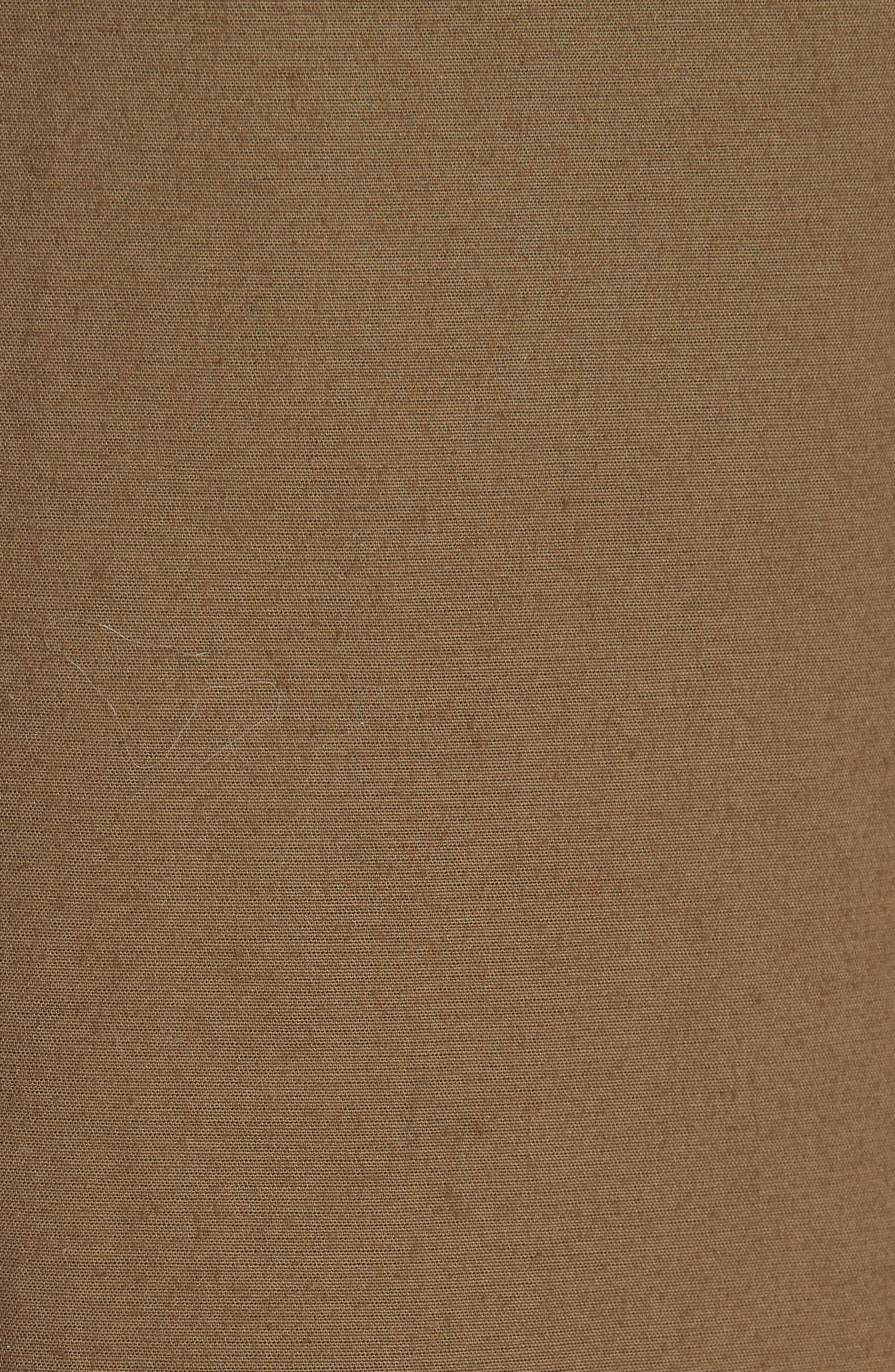 Studded Trench Coat,                             Alternate thumbnail 6, color,                             DARK GREEN