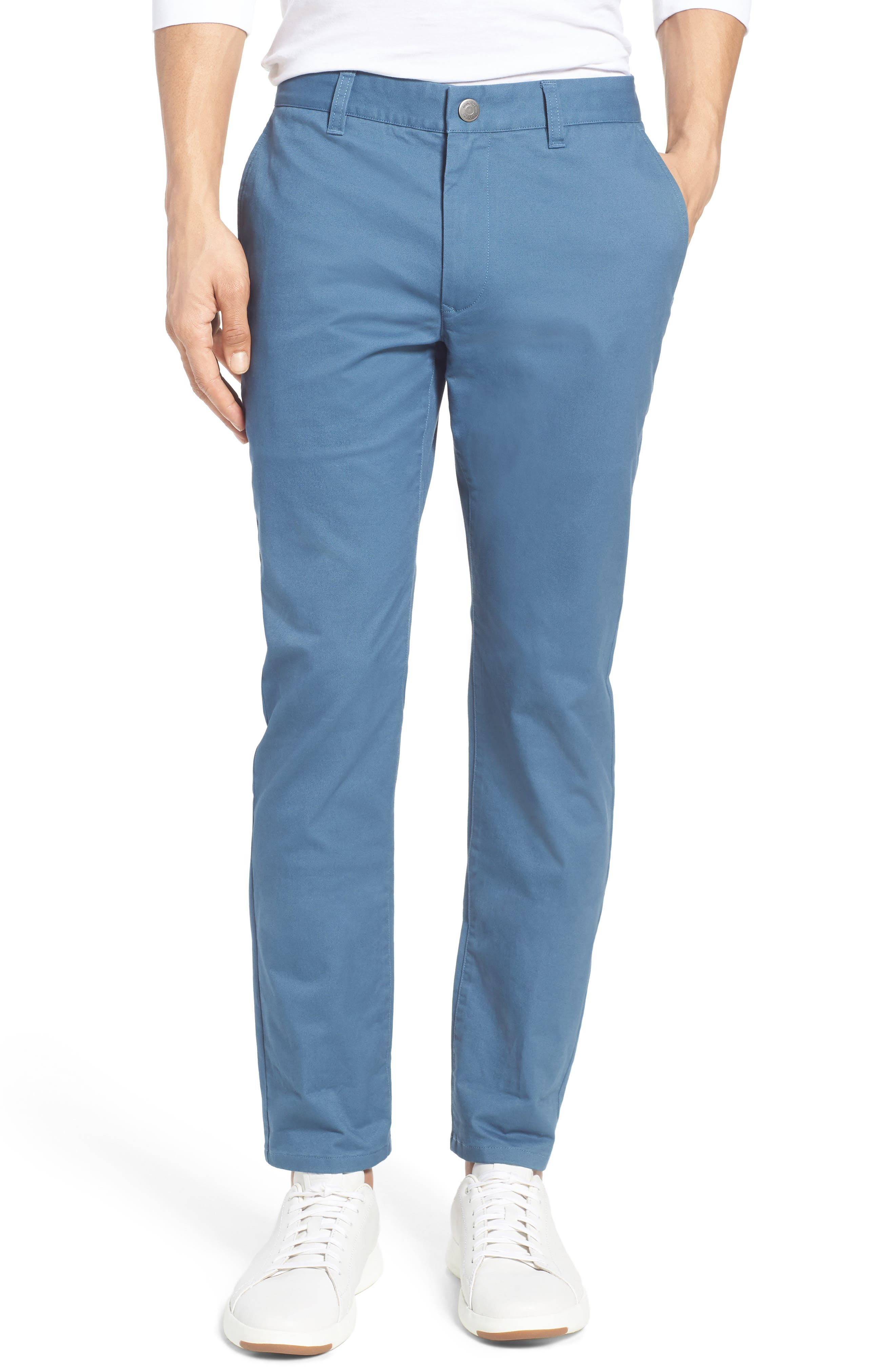 Tailored Fit Washed Stretch Cotton Chinos,                             Alternate thumbnail 138, color,