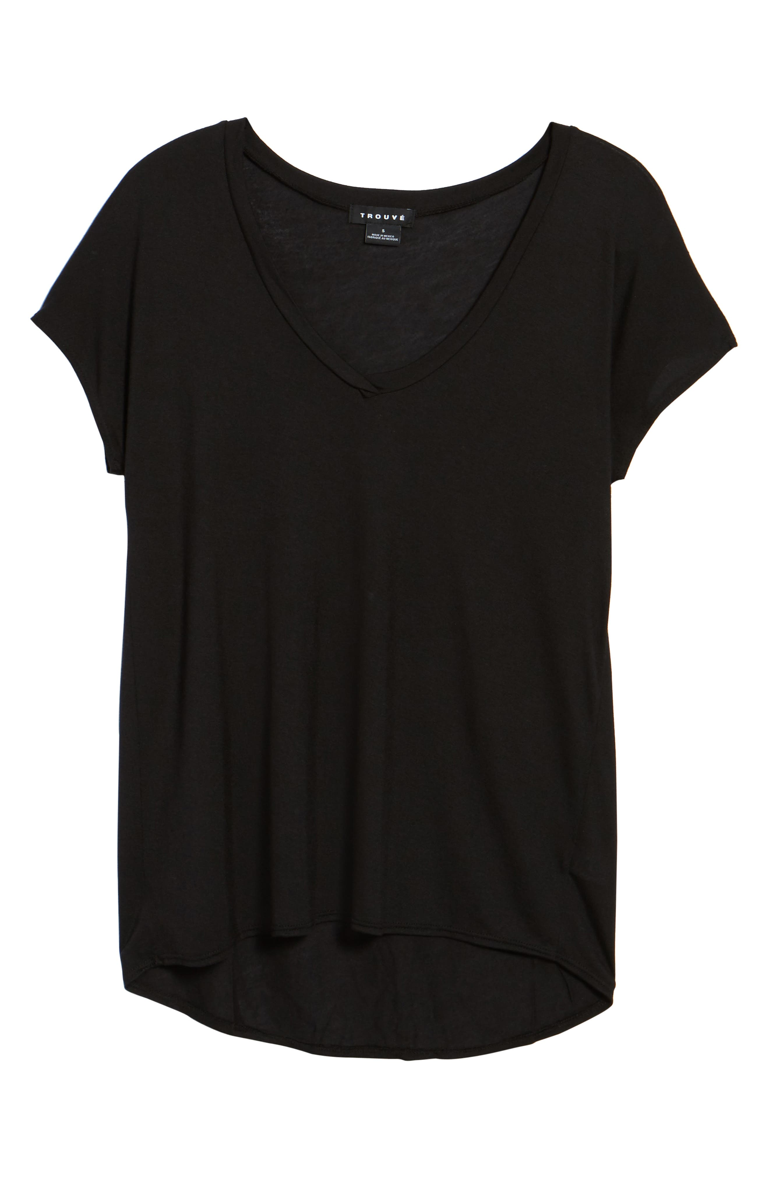 High/Low Dolman Tee,                             Alternate thumbnail 6, color,                             001
