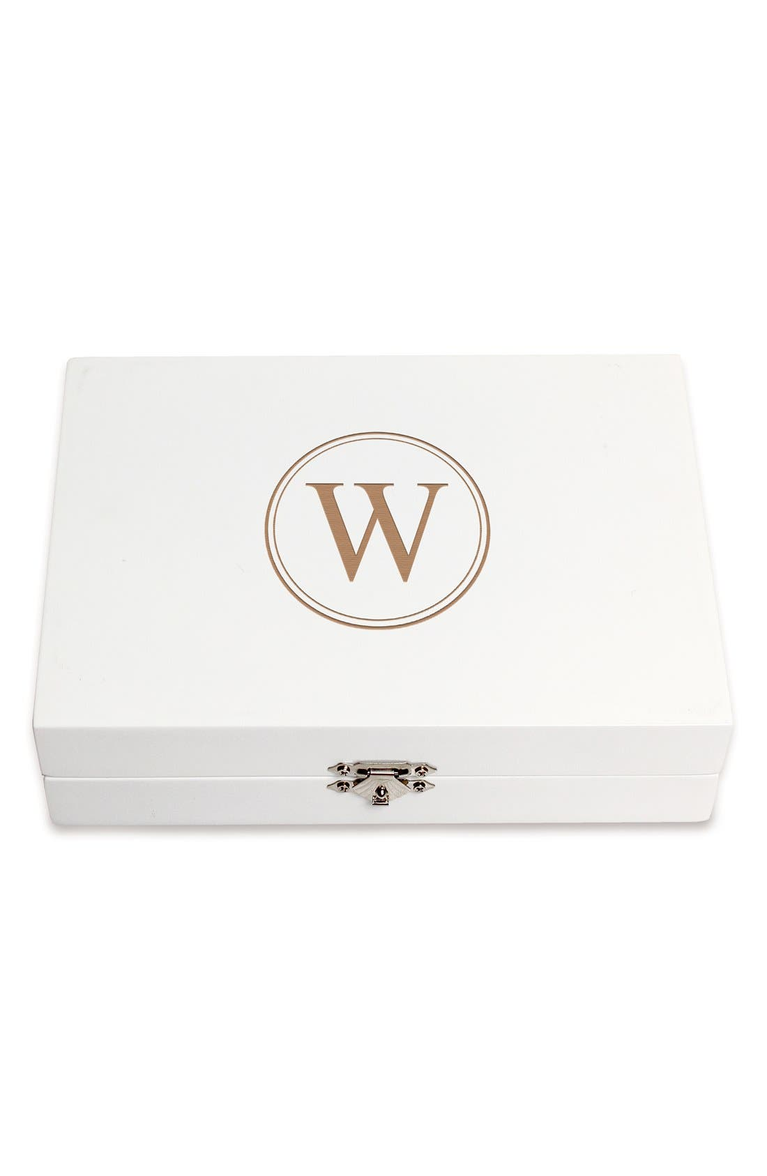 Monogram Wooden Jewelry Box,                             Main thumbnail 51, color,