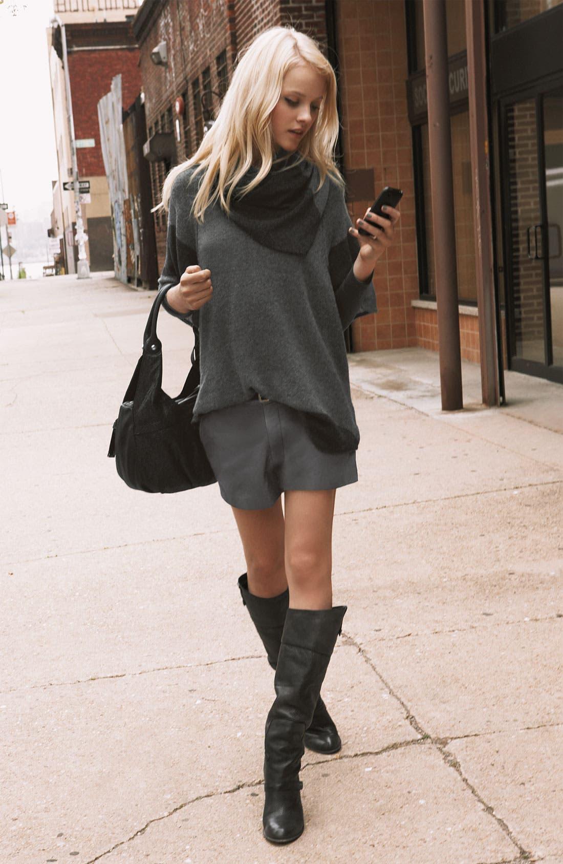 'Denver' Leather Shorts,                             Alternate thumbnail 3, color,                             020